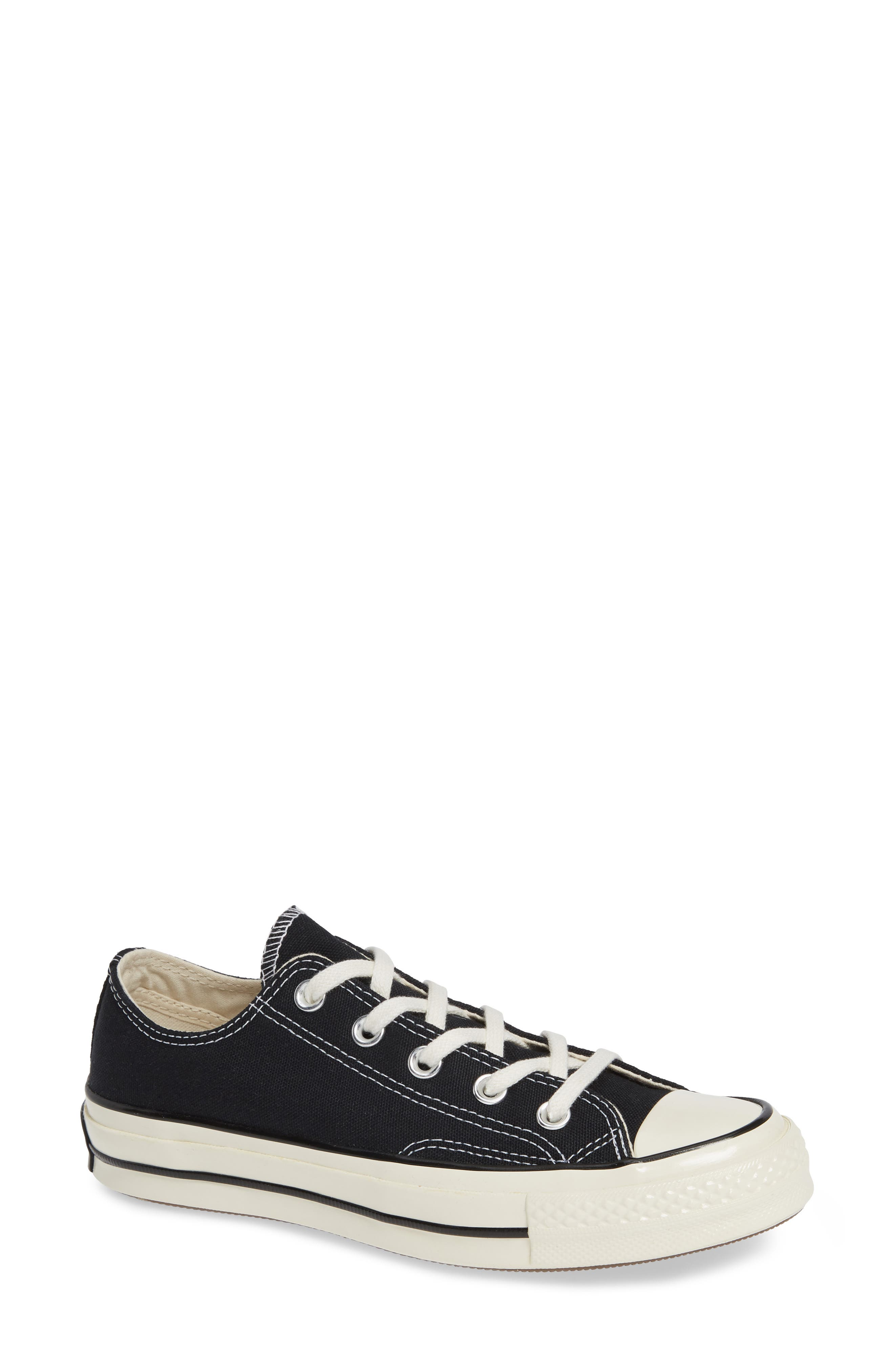 CONVERSE Chuck Taylor<sup>®</sup> All Star<sup>®</sup> Chuck 70 Ox Sneaker, Main, color, BLACK/ BLACK/ EGRET