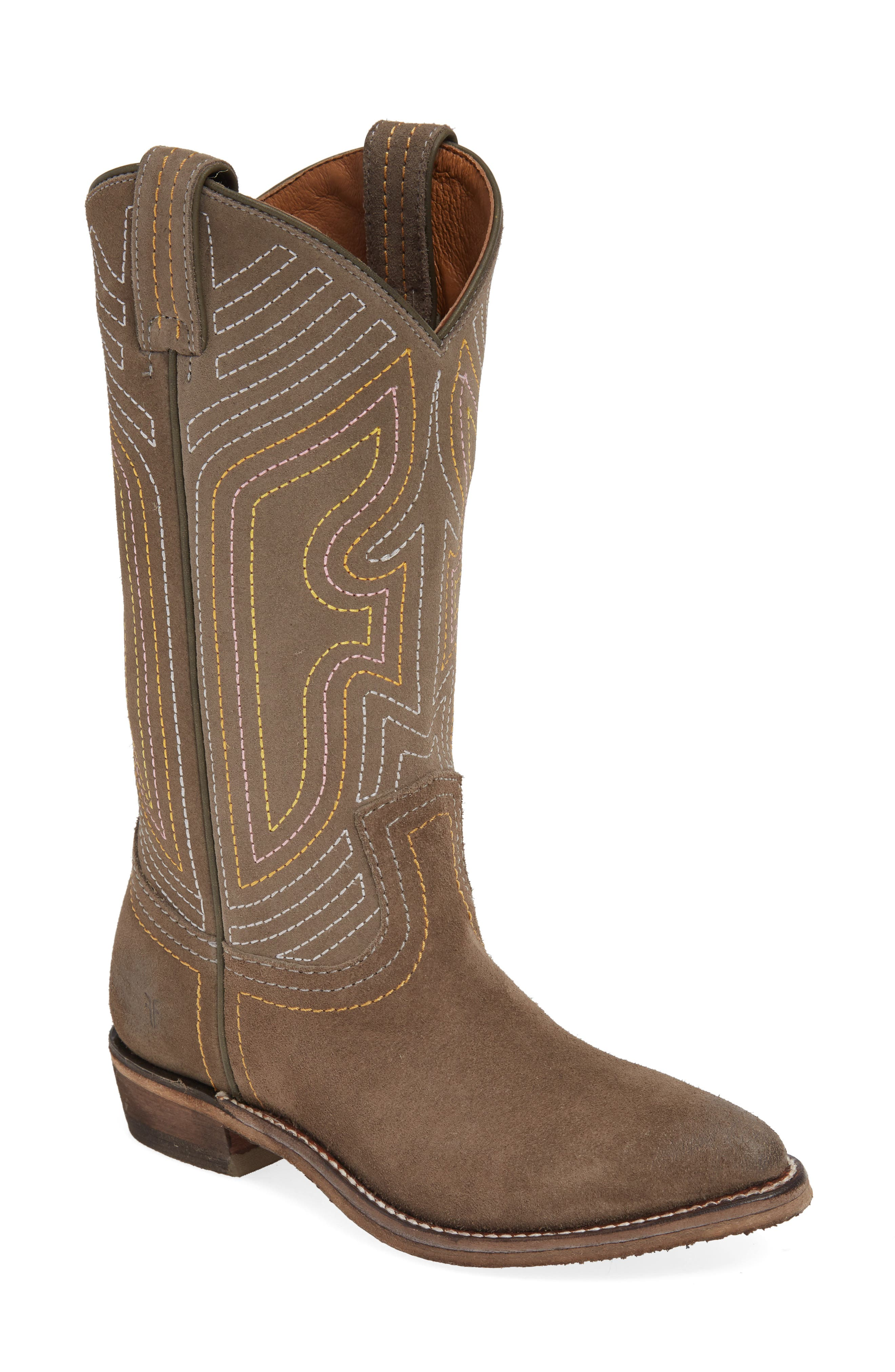 FRYE Billy Western Boot, Main, color, ELEPHANT