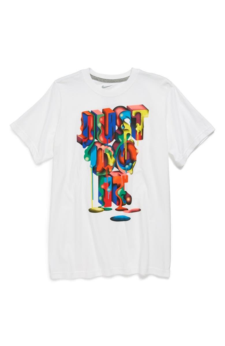 af3e953e7694 Nike  Just Do It - Drip  Cotton T-Shirt (Big Boys)