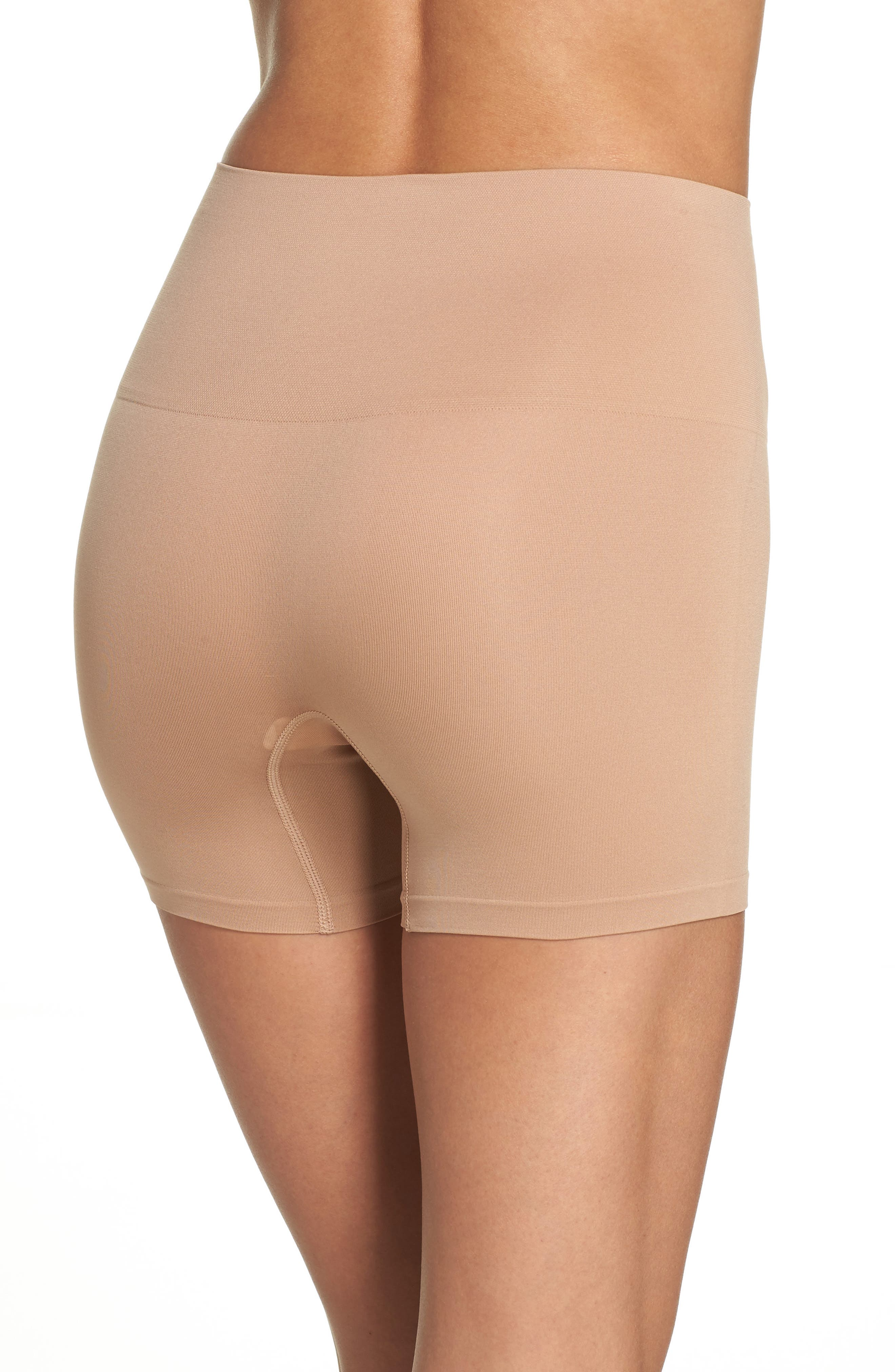 YUMMIE, Ultralight Seamless Shaping Shorts, Alternate thumbnail 2, color, ALMOND