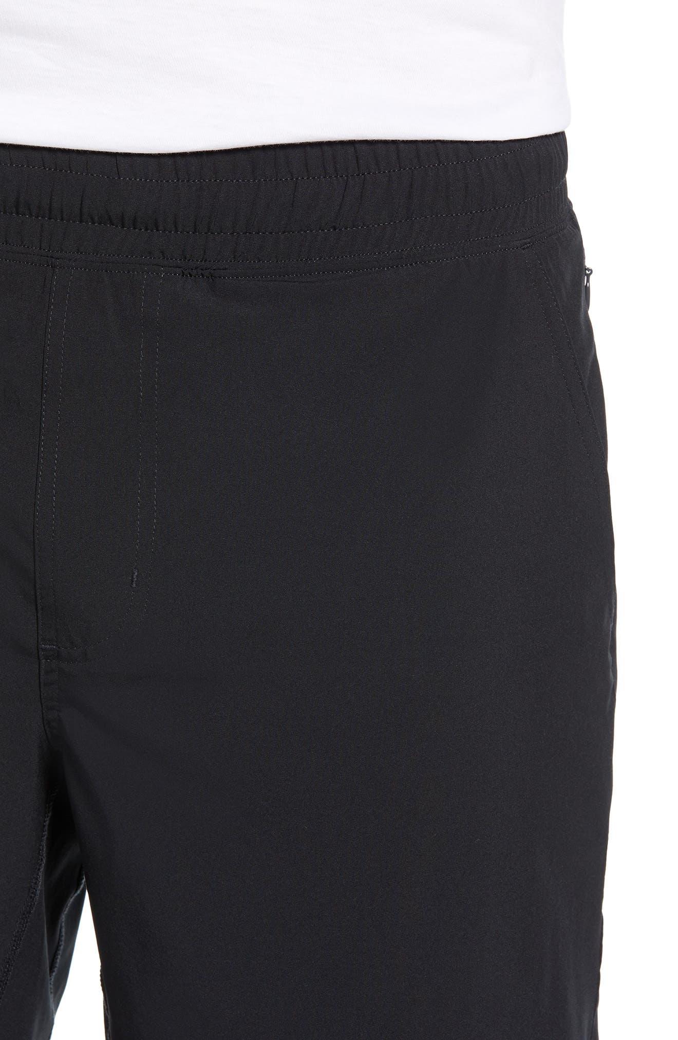 RHONE, Mako Lined Shorts, Alternate thumbnail 4, color, BLACK