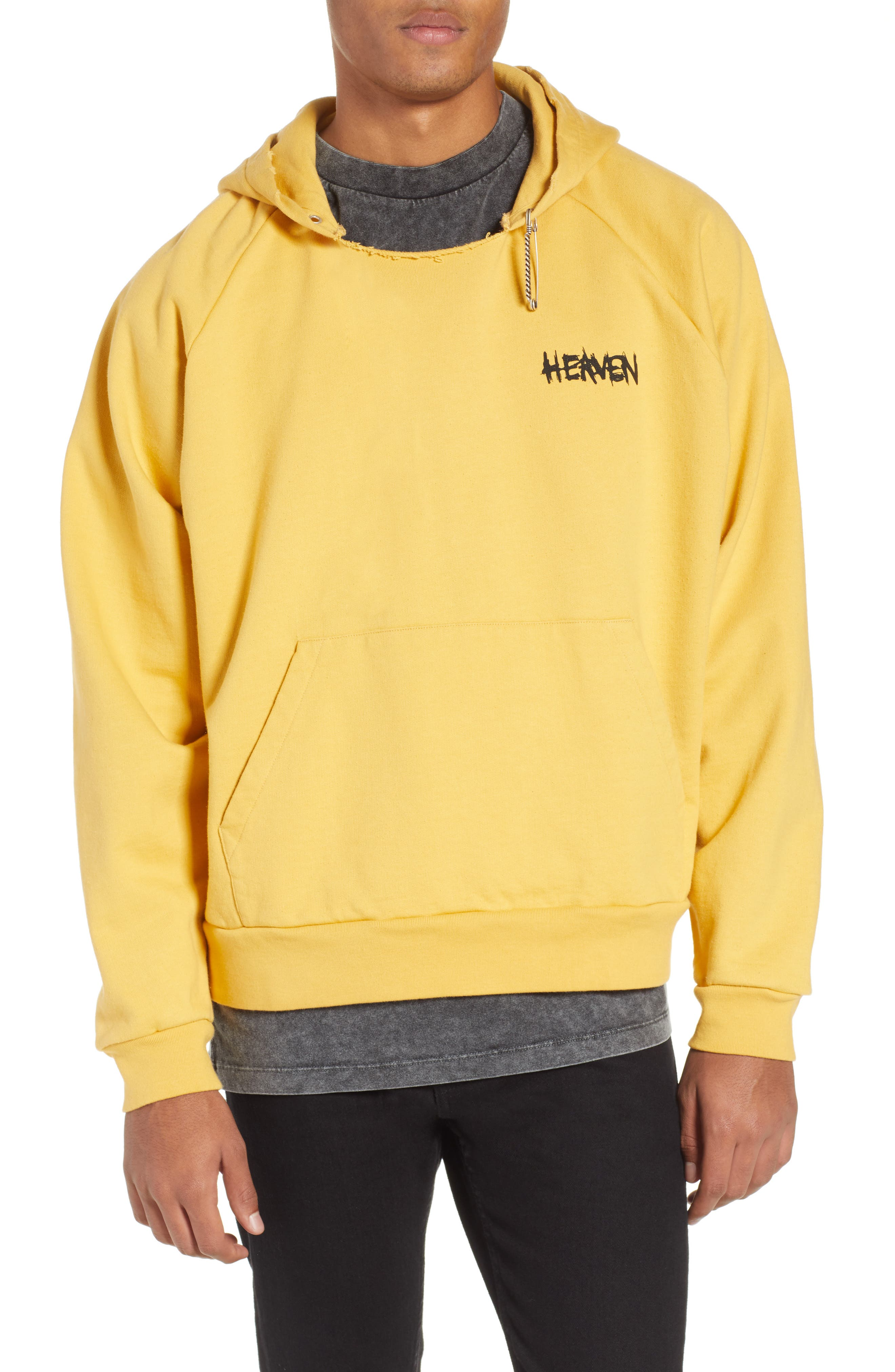 THE KOOPLES, Oversize Hoodie, Main thumbnail 1, color, YELLOW