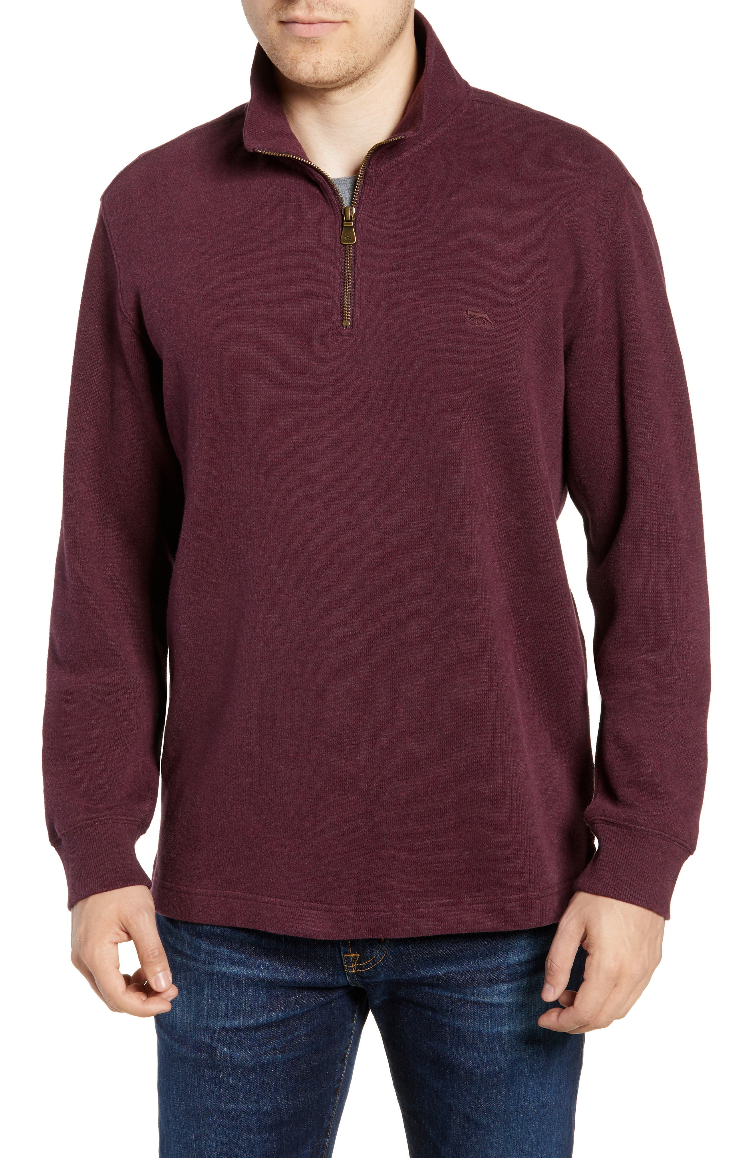 RODD & GUNN Alton Ave Regular Fit Pullover Sweatshirt, Main, color, BURGUNDY