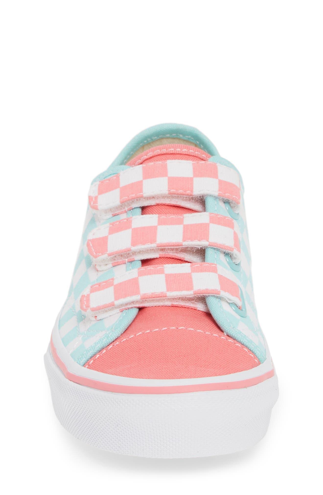VANS, Style 23V Sneaker, Alternate thumbnail 4, color, BLUE TINT/ STRAWBERRY PINK