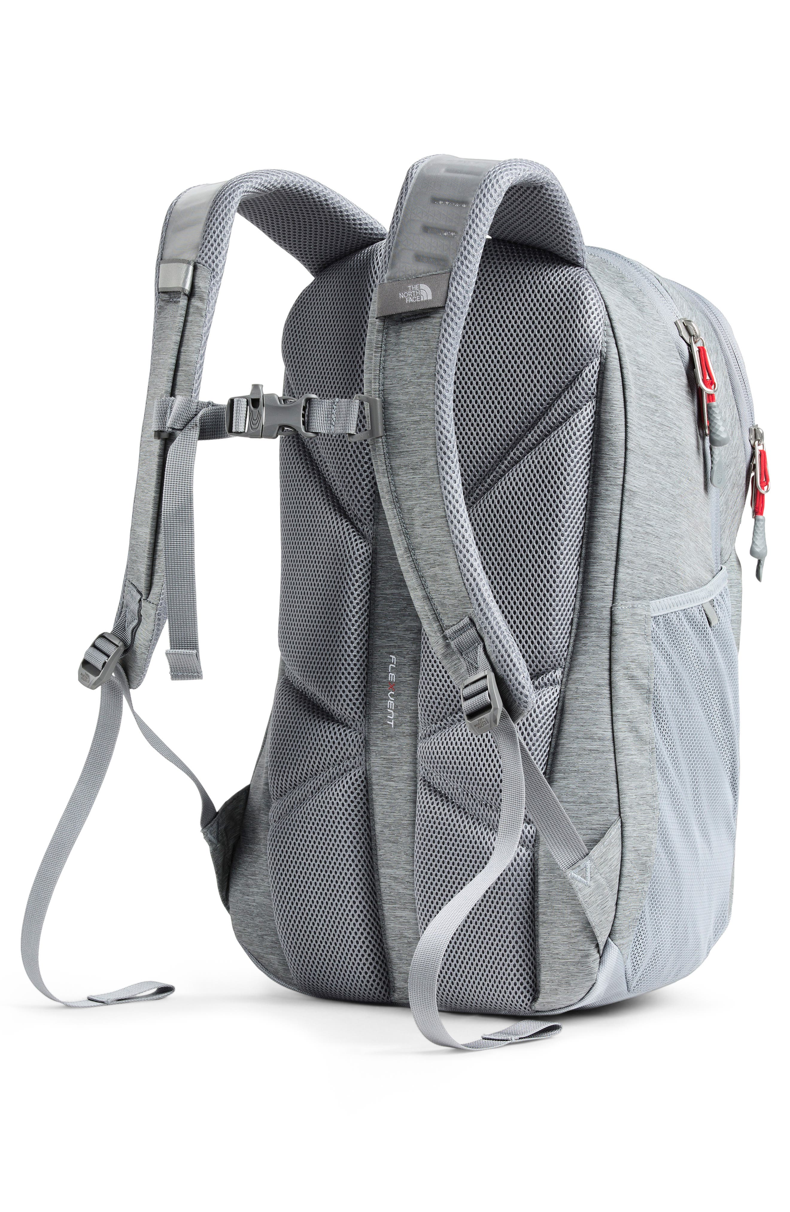 THE NORTH FACE, Jester Backpack, Alternate thumbnail 2, color, GREY DARK HEATHER/FIERY RED