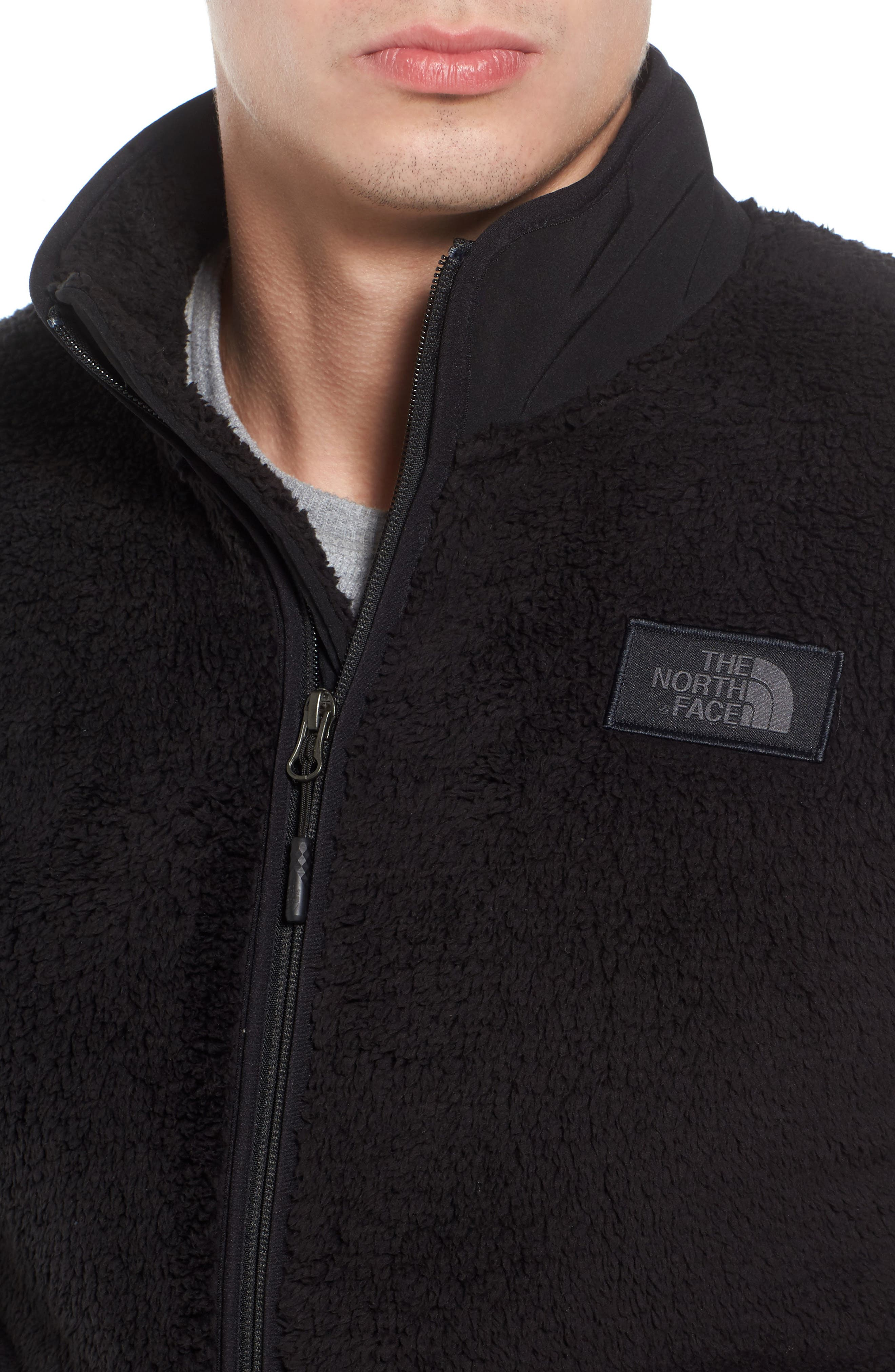 THE NORTH FACE, Campshire Zip Fleece Jacket, Alternate thumbnail 5, color, 001