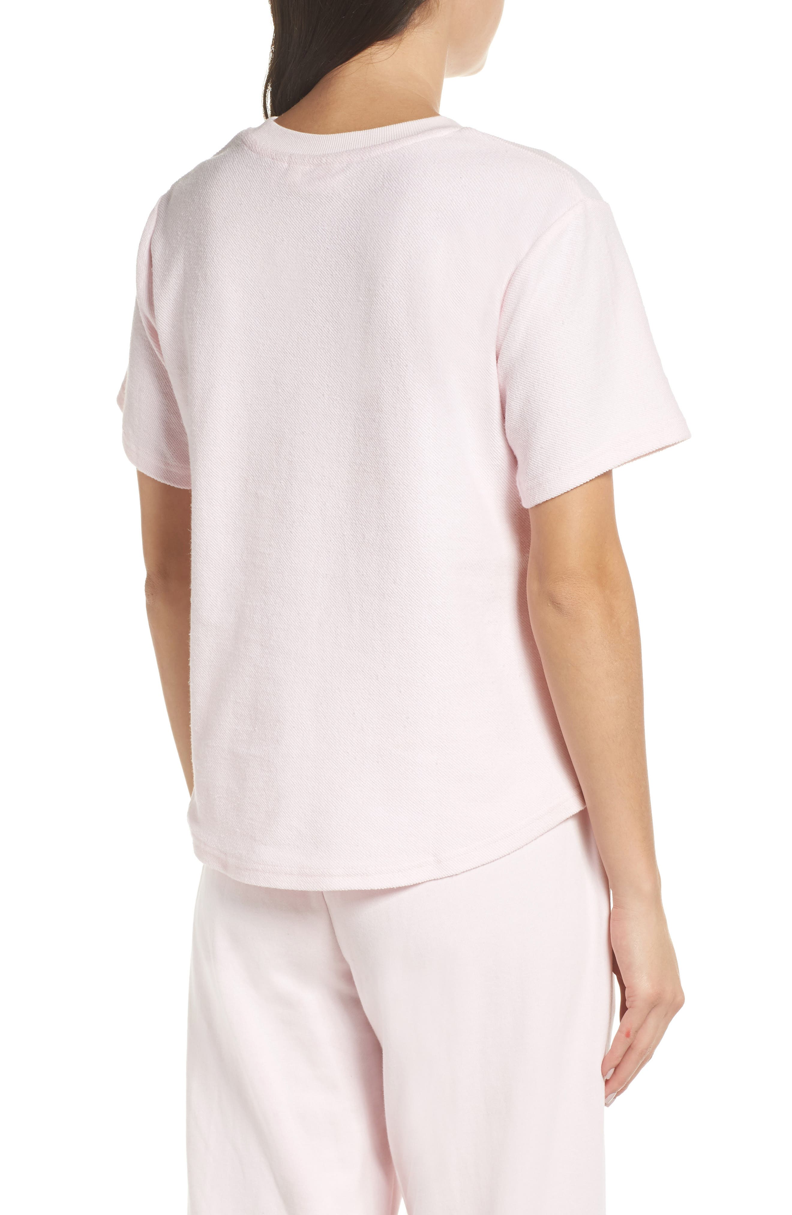 CHALMERS, Indy Tee, Alternate thumbnail 2, color, BLUSH PINK BABY TERRY
