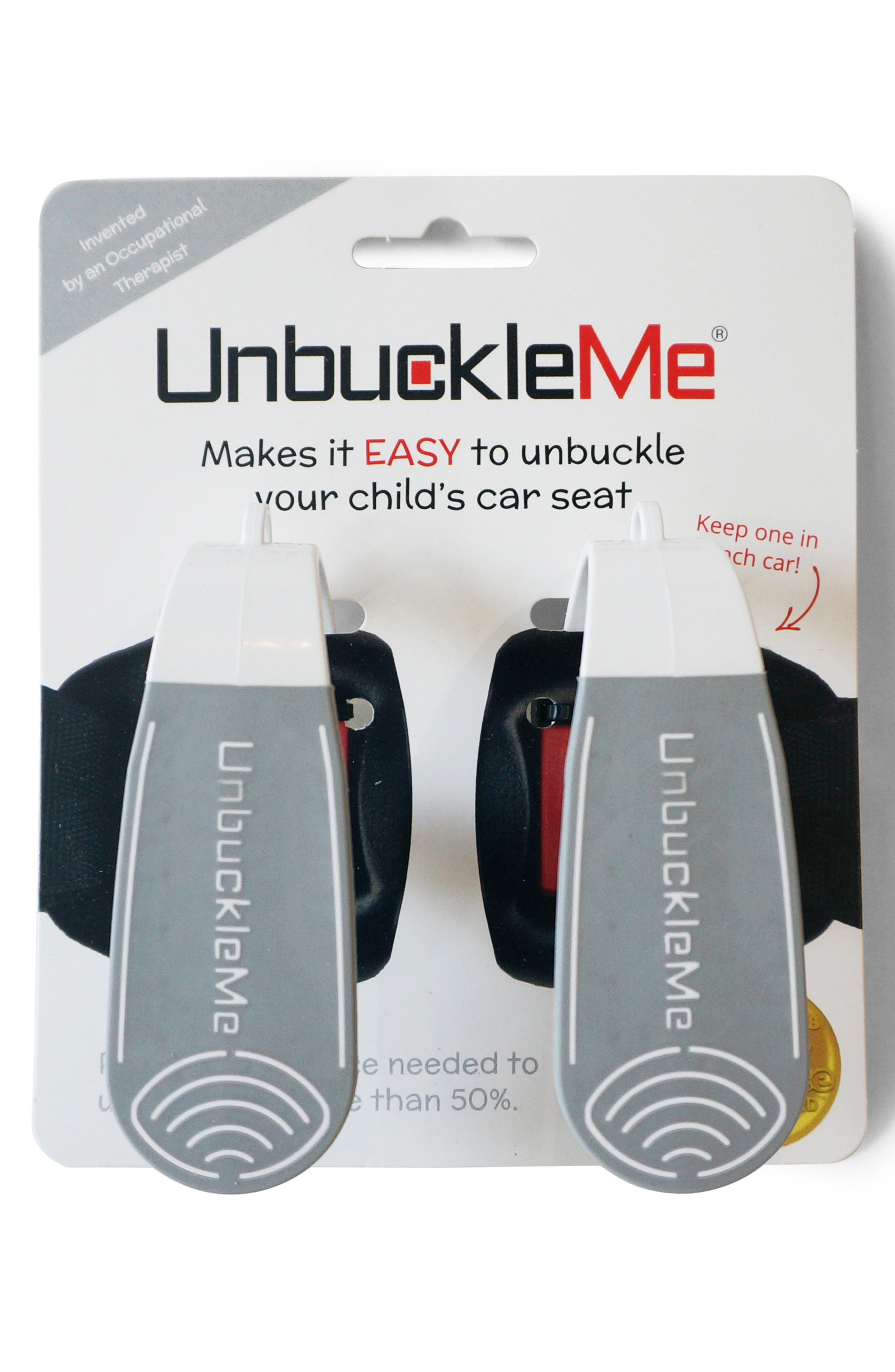 UNBUCKLEME, Double Pack Car Seat Release Tool, Alternate thumbnail 5, color, GREY/ WHITE
