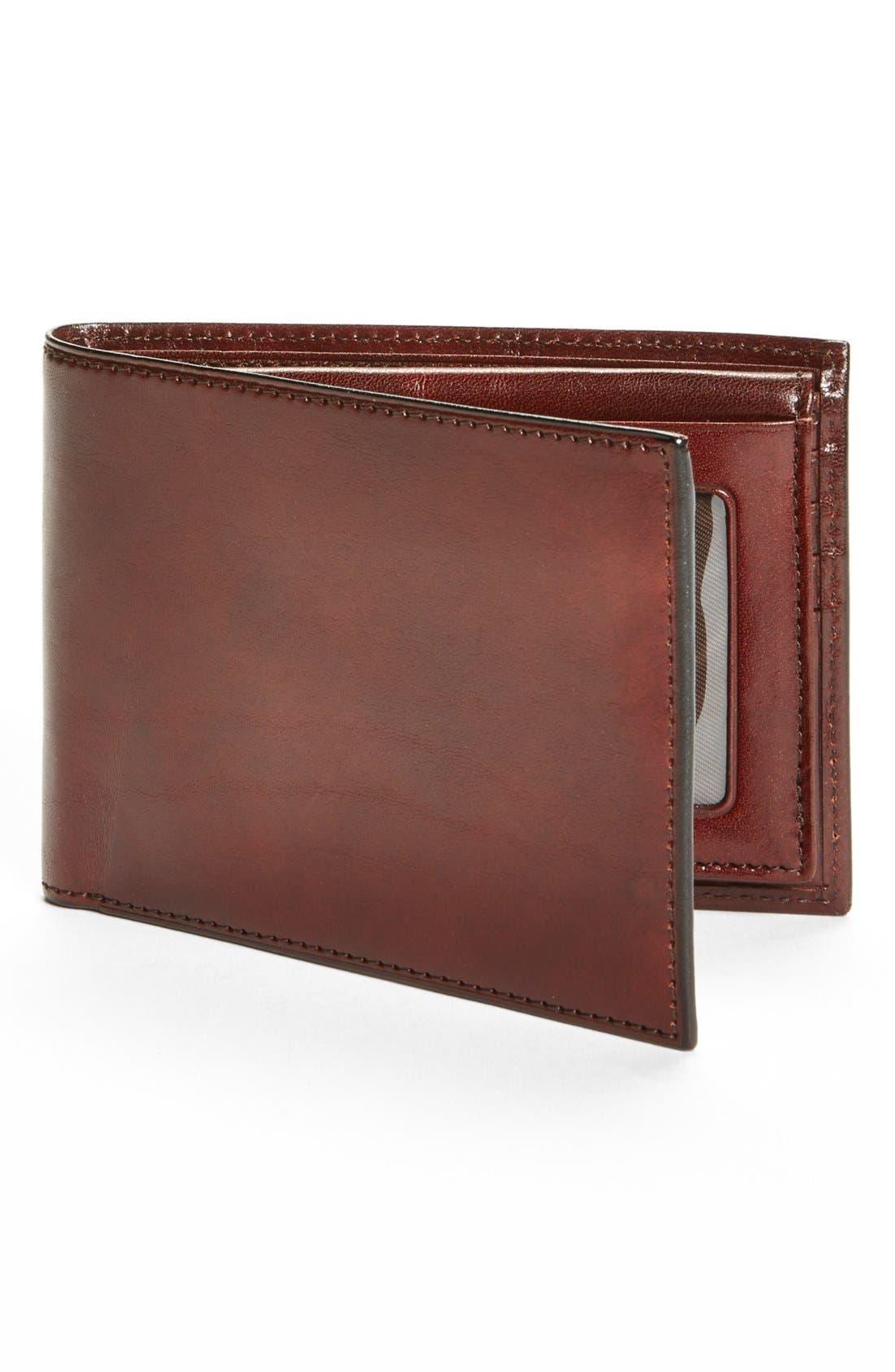 BOSCA ID Passcase Wallet, Main, color, BROWN
