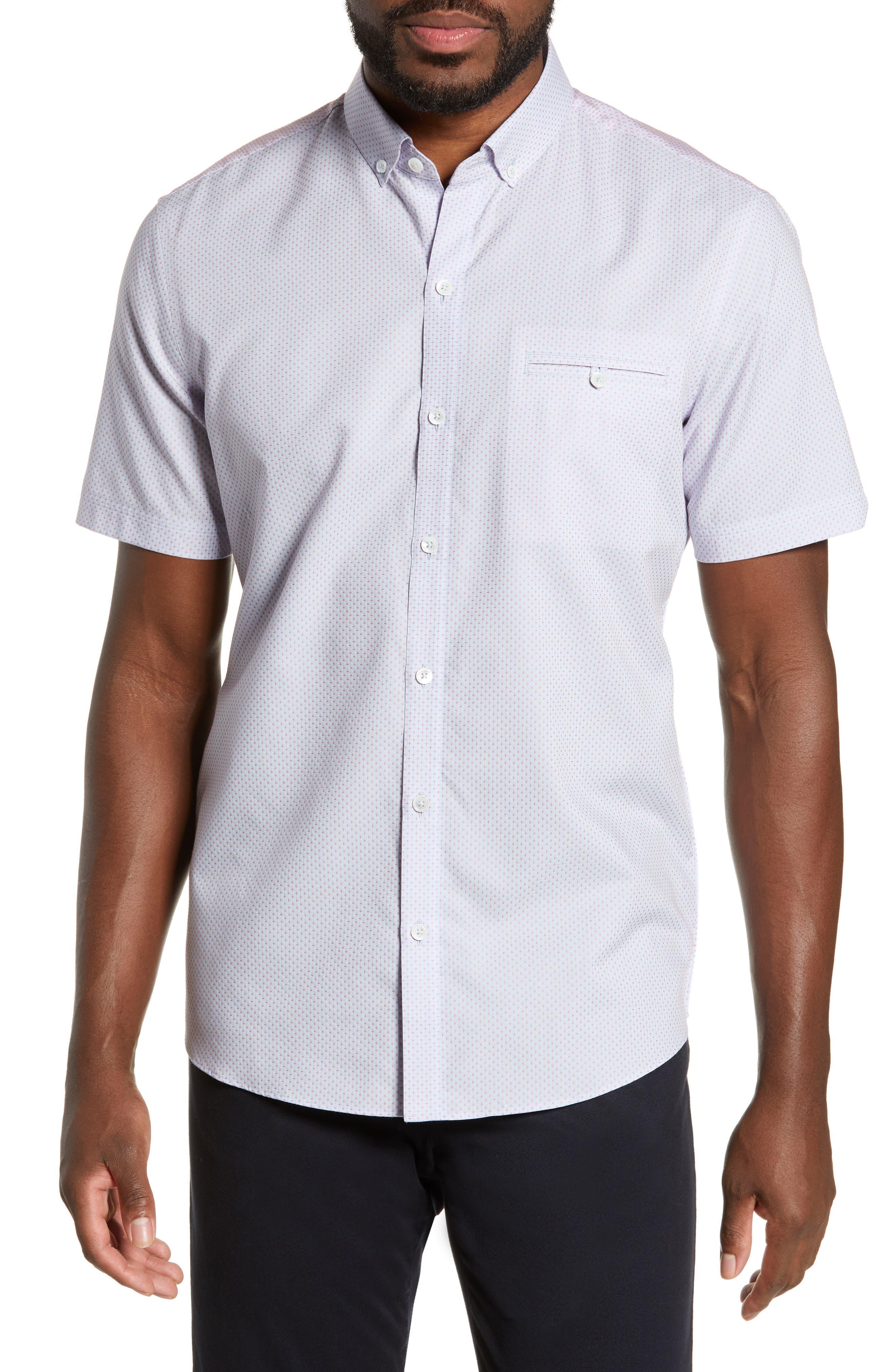 ZACHARY PRELL McGrew Regular Fit Sport Shirt, Main, color, FLAMINGO