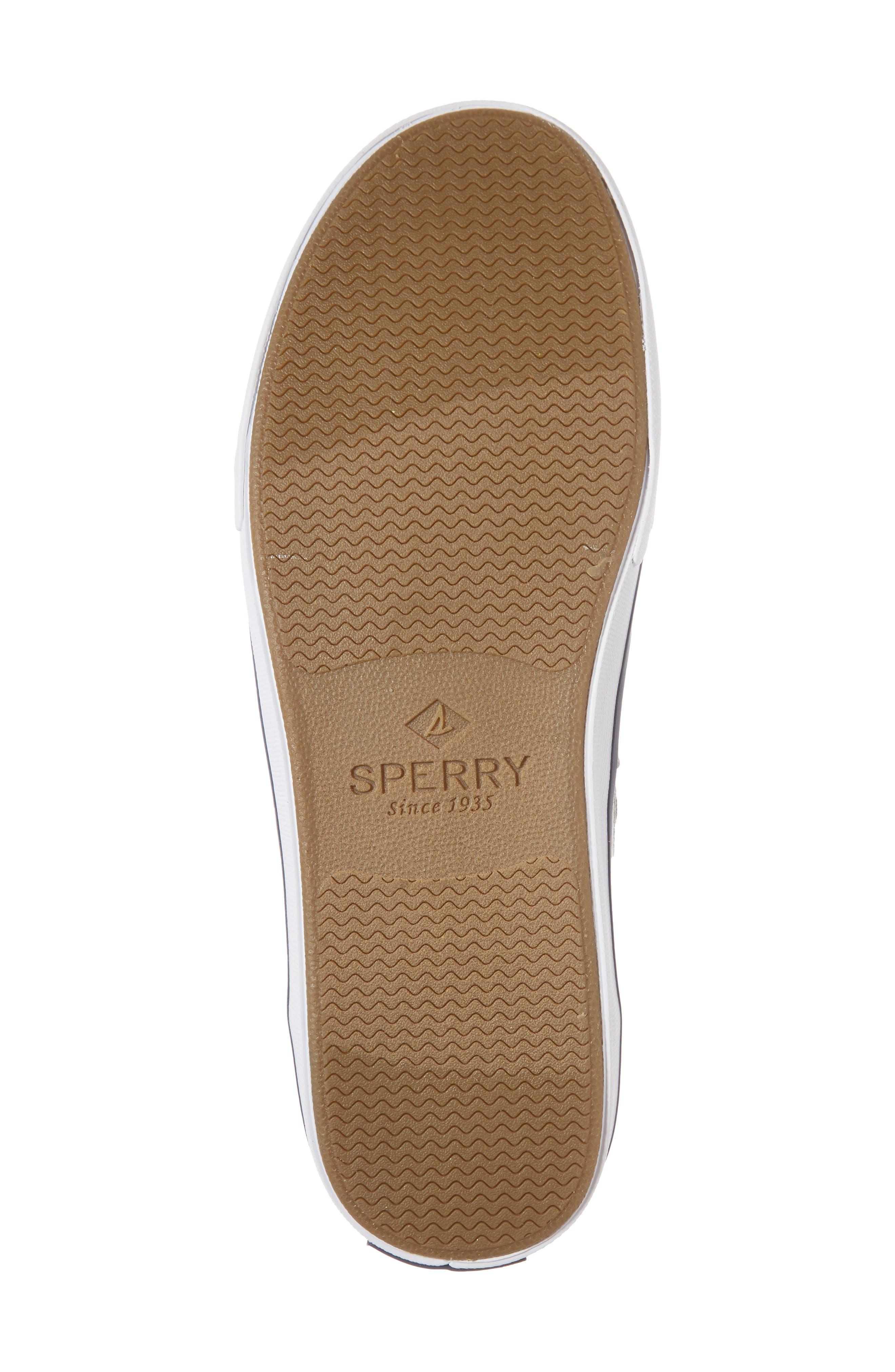 SPERRY, Striper 2 Boat Shoe, Alternate thumbnail 6, color, GREY CANVAS