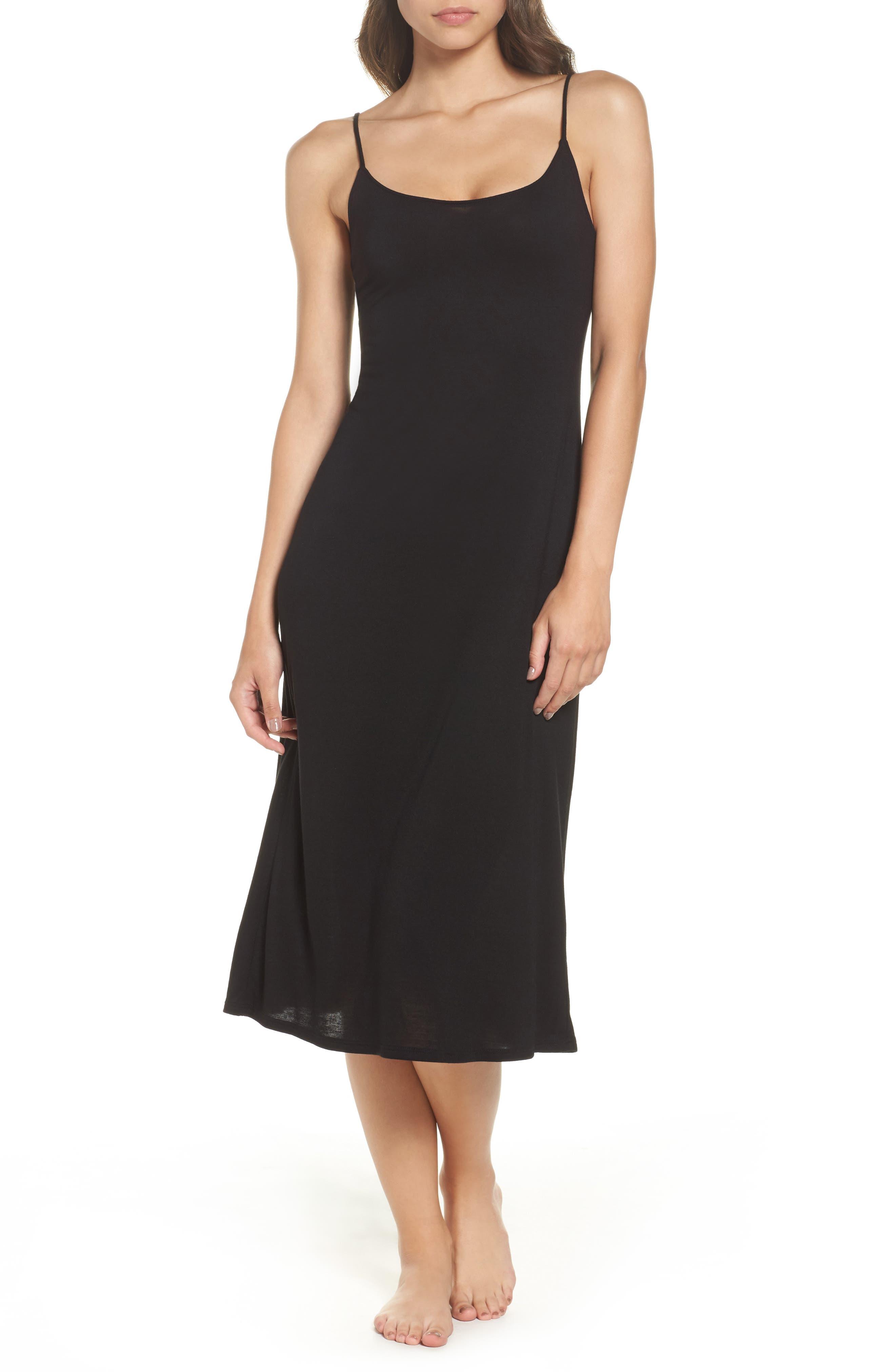 NATORI Shangri La Nightgown, Main, color, BLACK