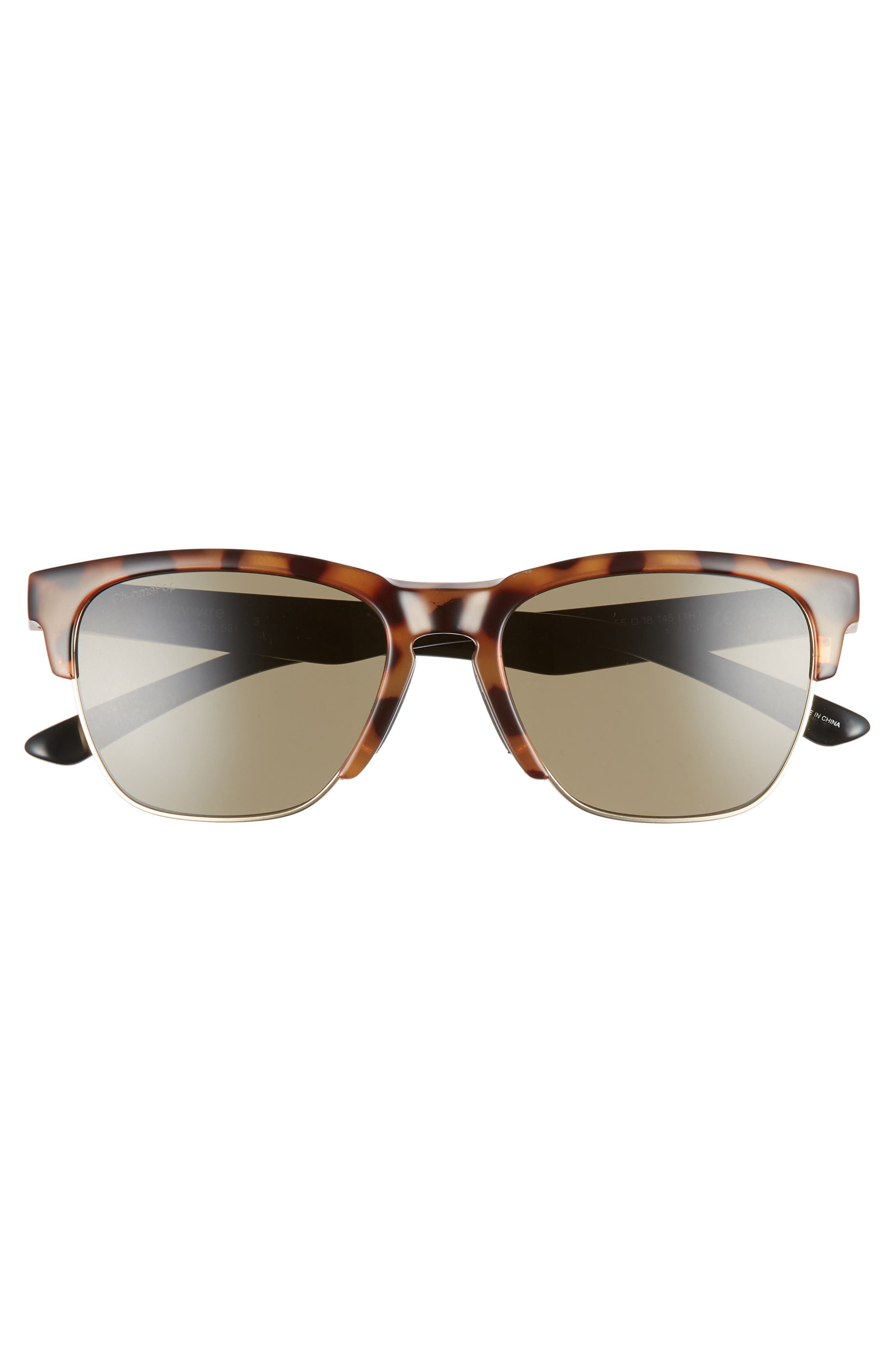 SMITH, Haywire 55mm ChromaPop<sup>™</sup> Polarized Sunglasses, Alternate thumbnail 3, color, HONEY TORTOISE/ GREEN