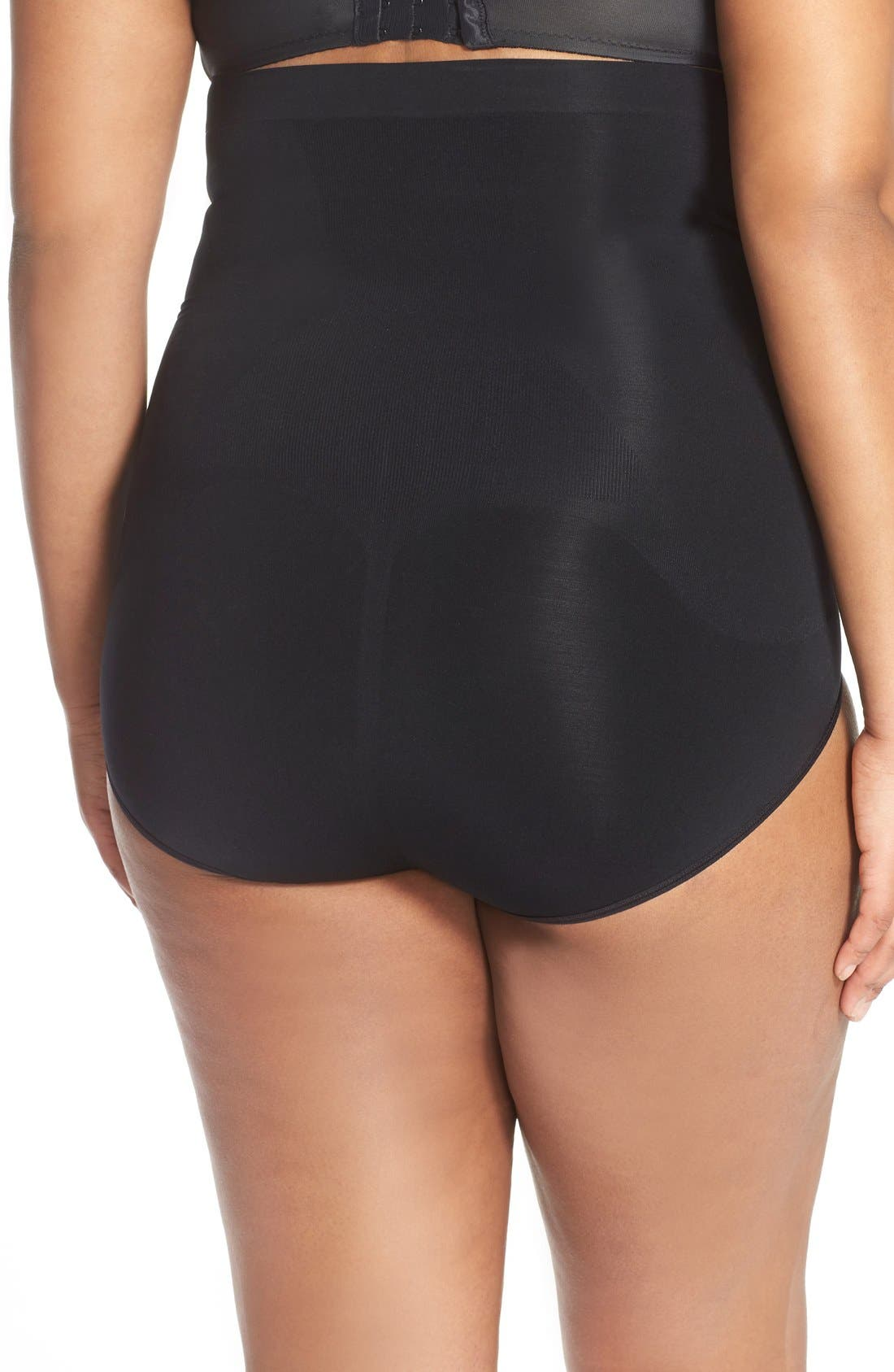 SPANX<SUP>®</SUP>, OnCore High Waist Briefs, Alternate thumbnail 2, color, VERY BLACK