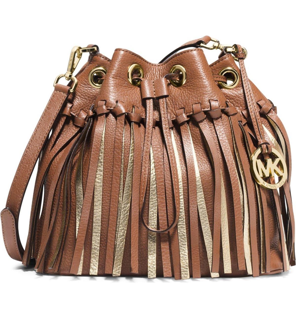 aa0bdb7b7ecd MICHAEL Michael Kors 'Medium Christy' Drawstring Messenger Bag | Nordstrom