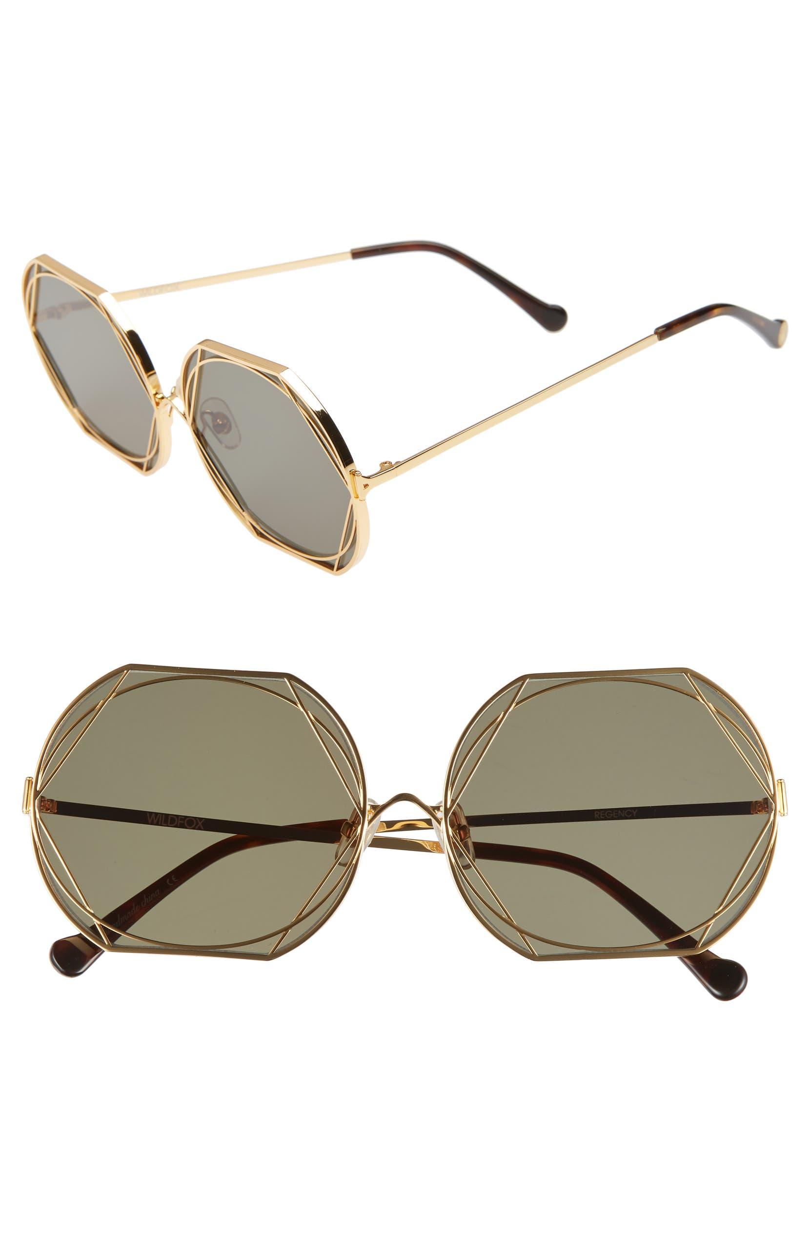 508c42d3755c8 Wildfox Regency Round 59mm Sunglasses