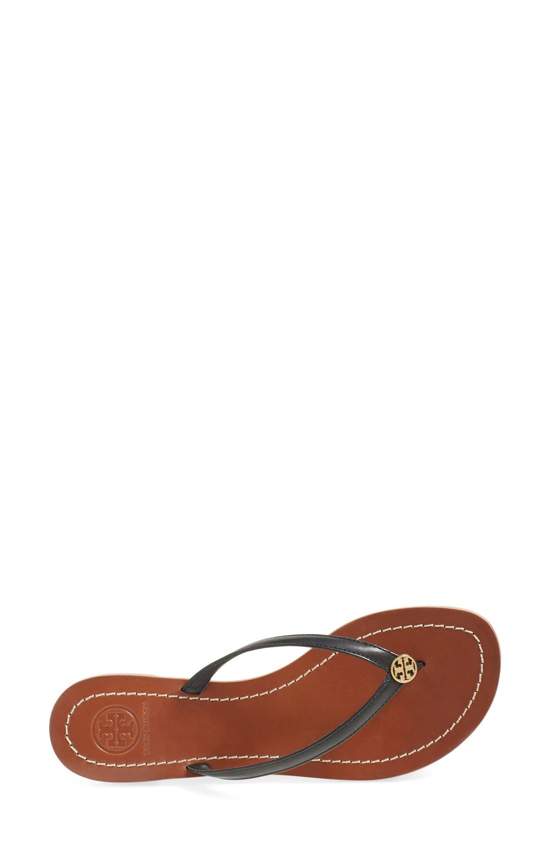 TORY BURCH, 'Terra' Flip Flop, Alternate thumbnail 3, color, 001