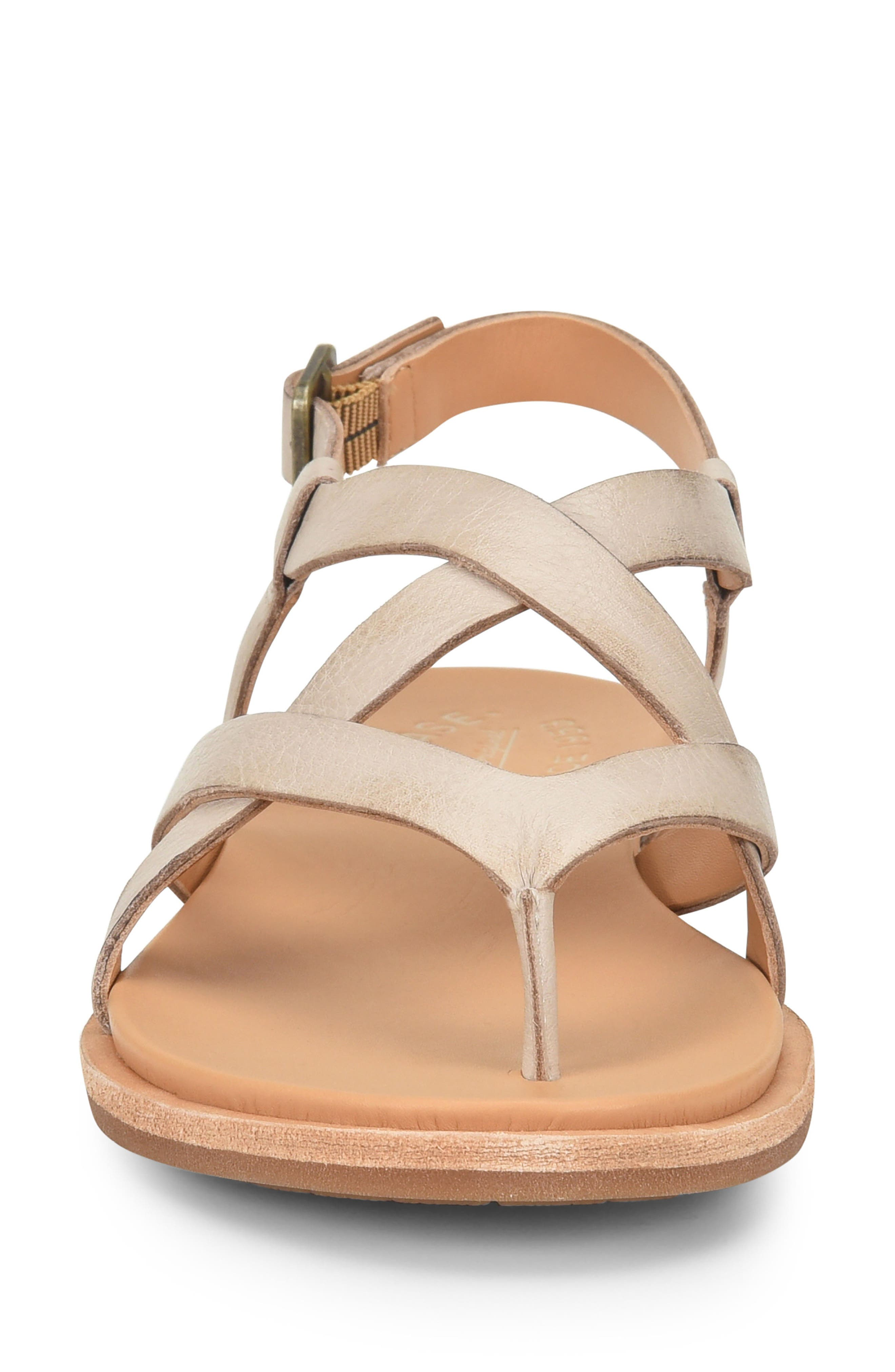 KORK-EASE<SUP>®</SUP>, Yarbrough Sandal, Alternate thumbnail 4, color, LIGHT GREY LEATHER