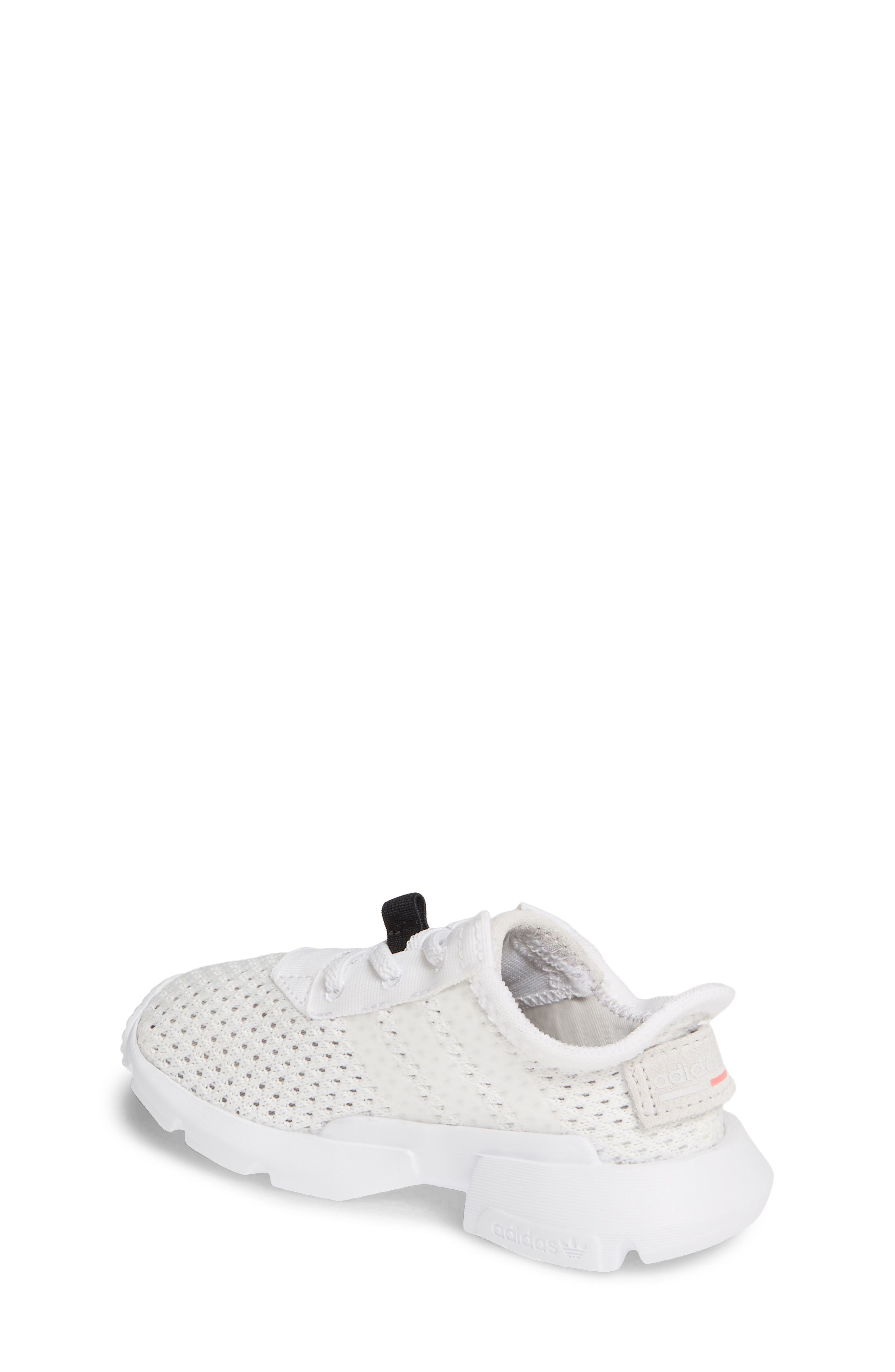 ADIDAS, POD-S3.1 Sneaker, Alternate thumbnail 2, color, WHITE/ WHITE/ SHOCK RED