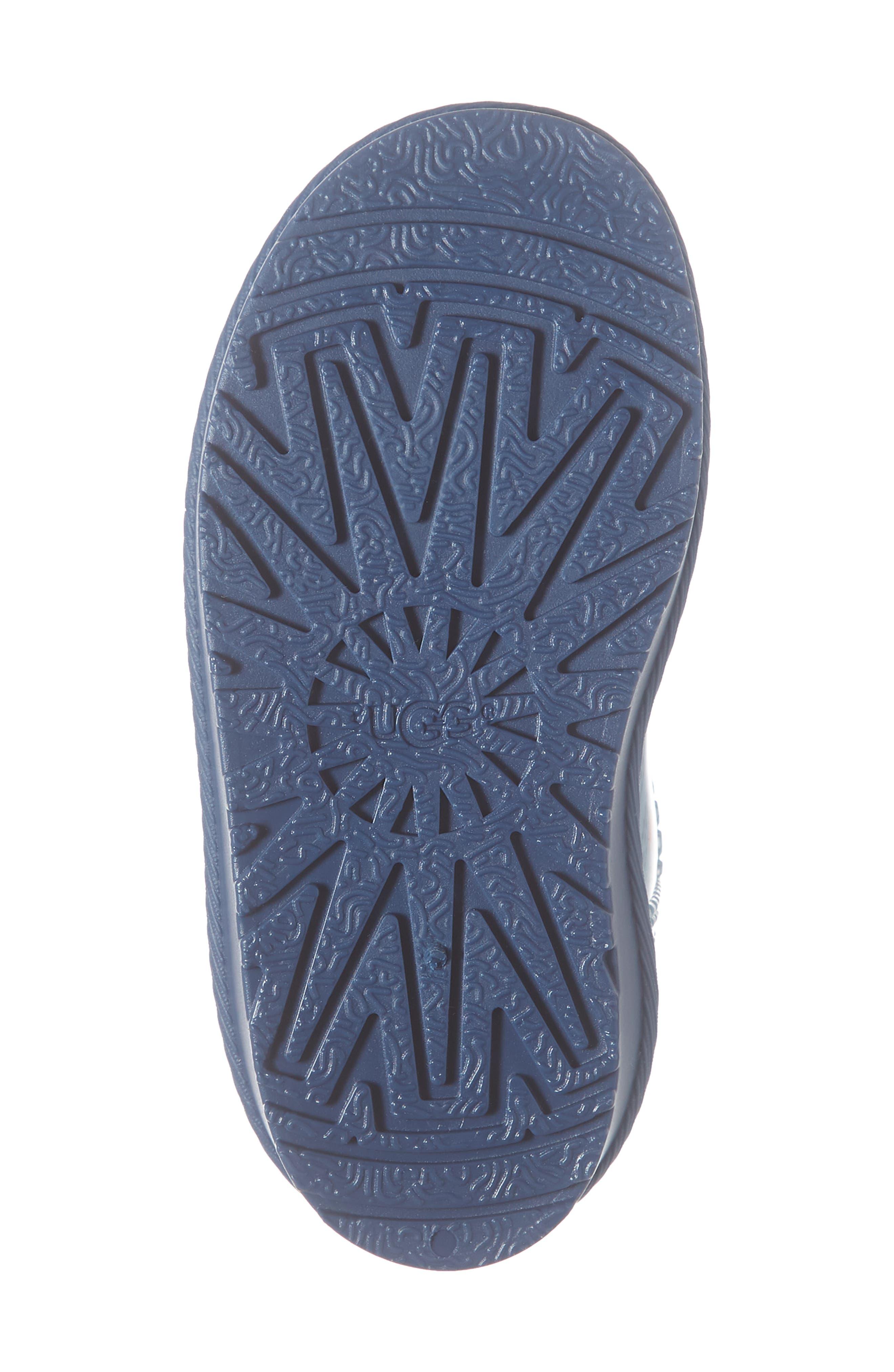 UGG<SUP>®</SUP>, Rahjee Waterproof Rain Boot, Alternate thumbnail 6, color, BALLAD BLUE