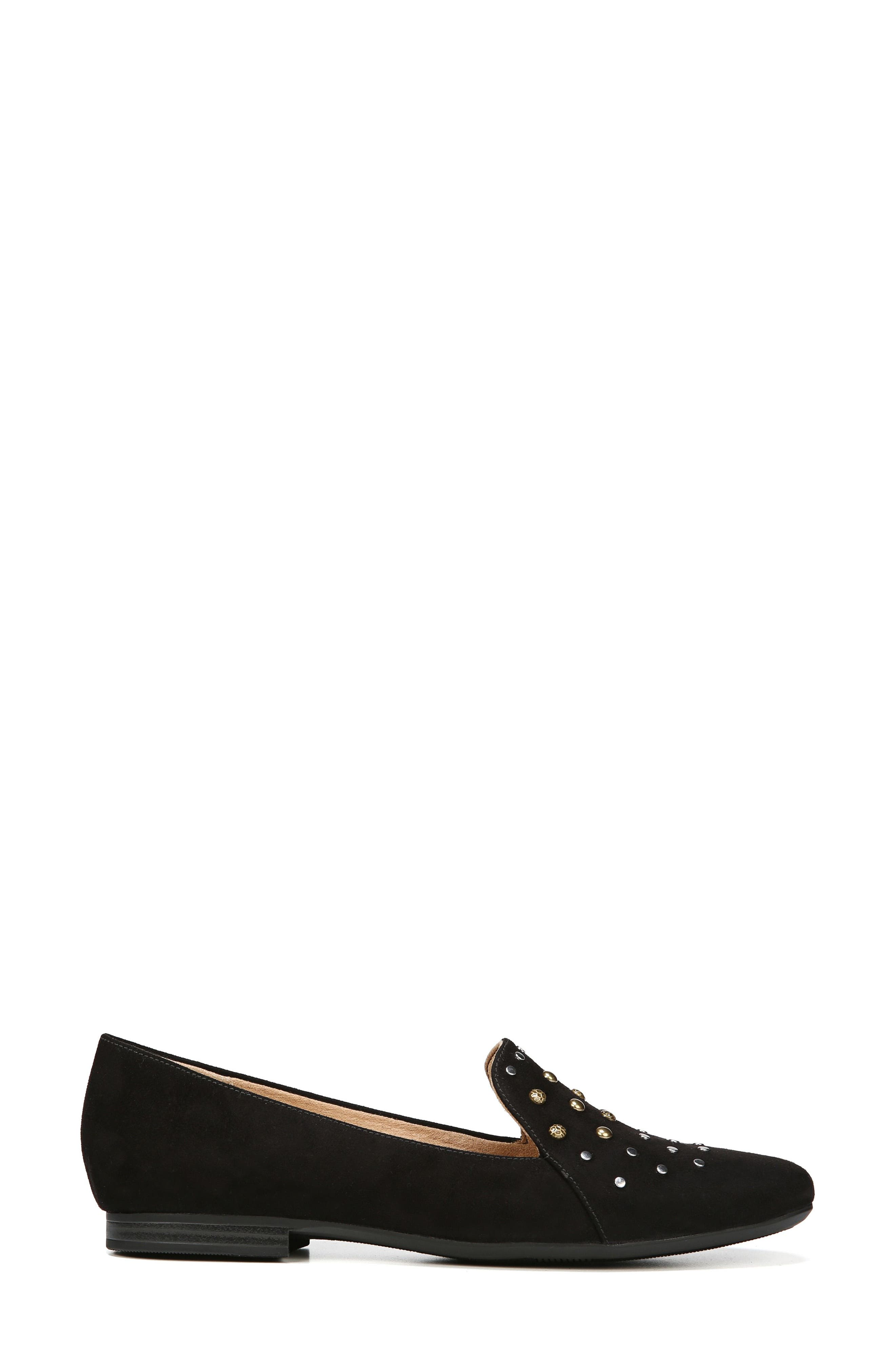 NATURALIZER, Emiline 4 Loafer, Alternate thumbnail 3, color, BLACK FABRIC
