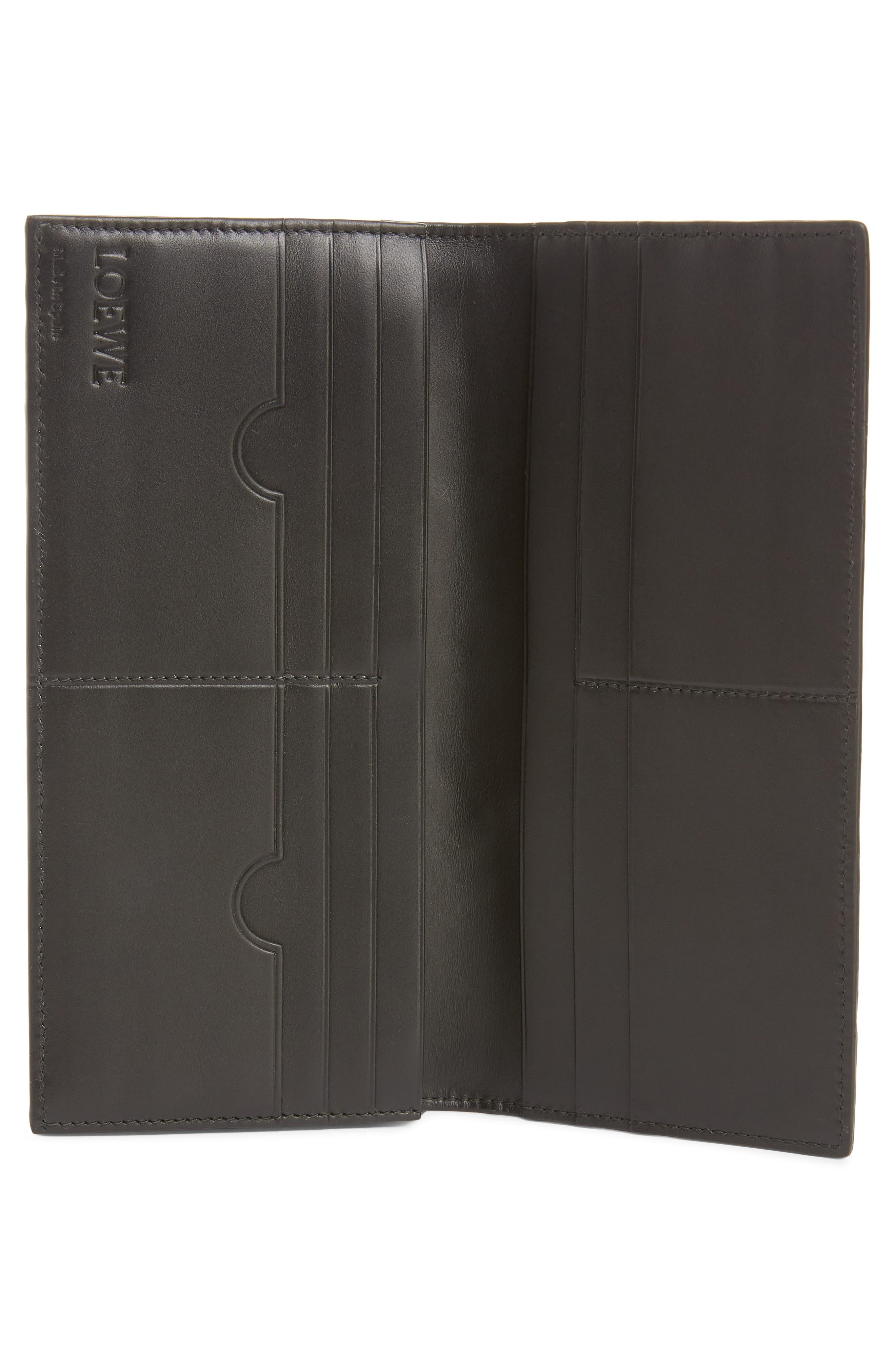 LOEWE, Long Puzzle Bifold Leather Wallet, Alternate thumbnail 2, color, BLACK