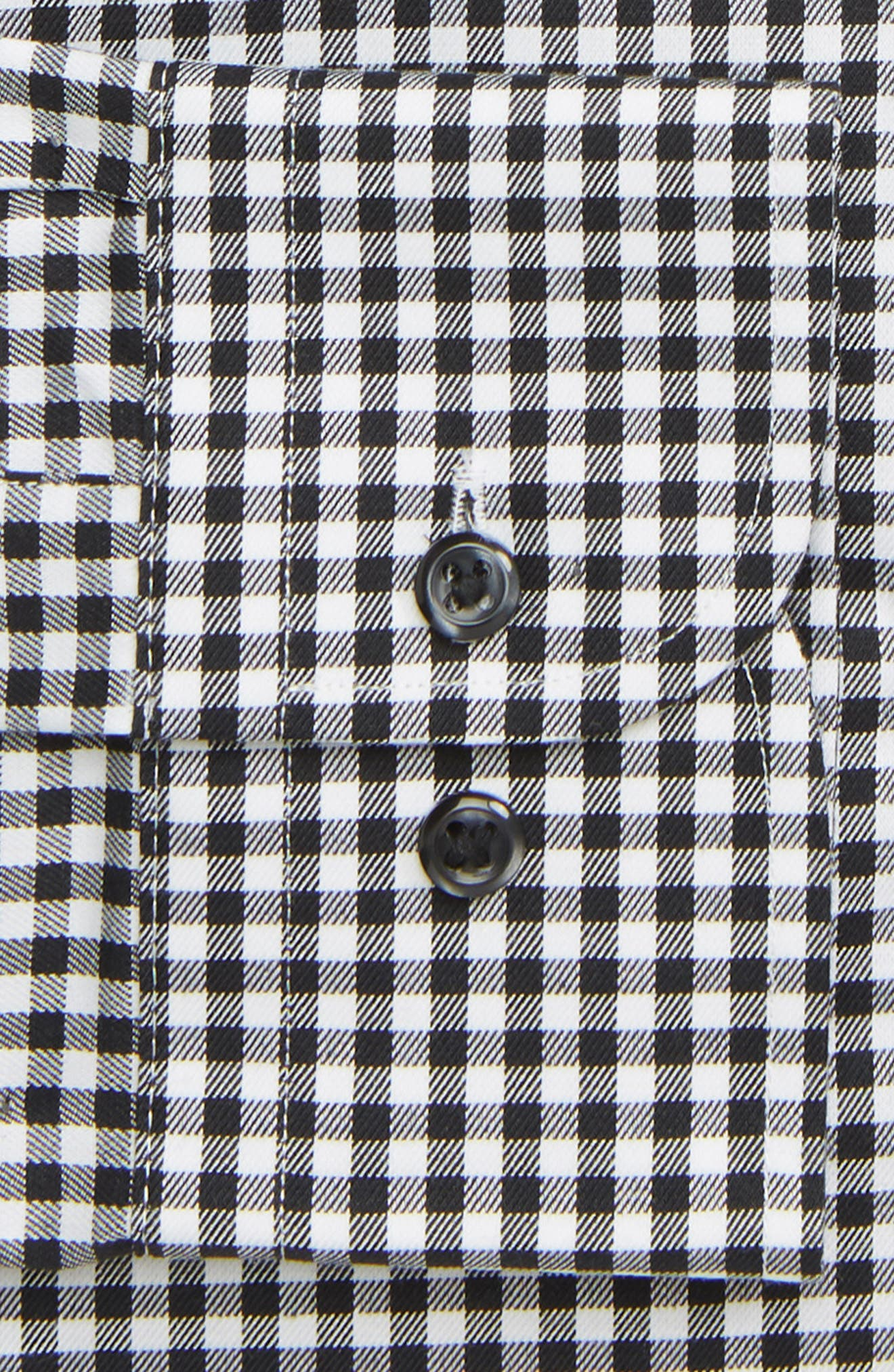 NORDSTROM MEN'S SHOP, Classic Fit Non-Iron Gingham Dress Shirt, Alternate thumbnail 2, color, BLACK