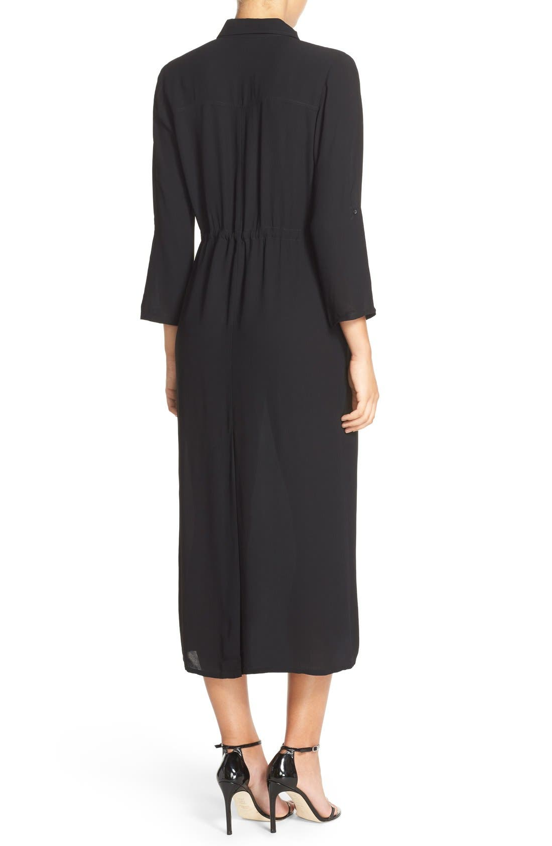 FRENCH CONNECTION, 'Cecil' Midi Shirtdress, Alternate thumbnail 2, color, 005