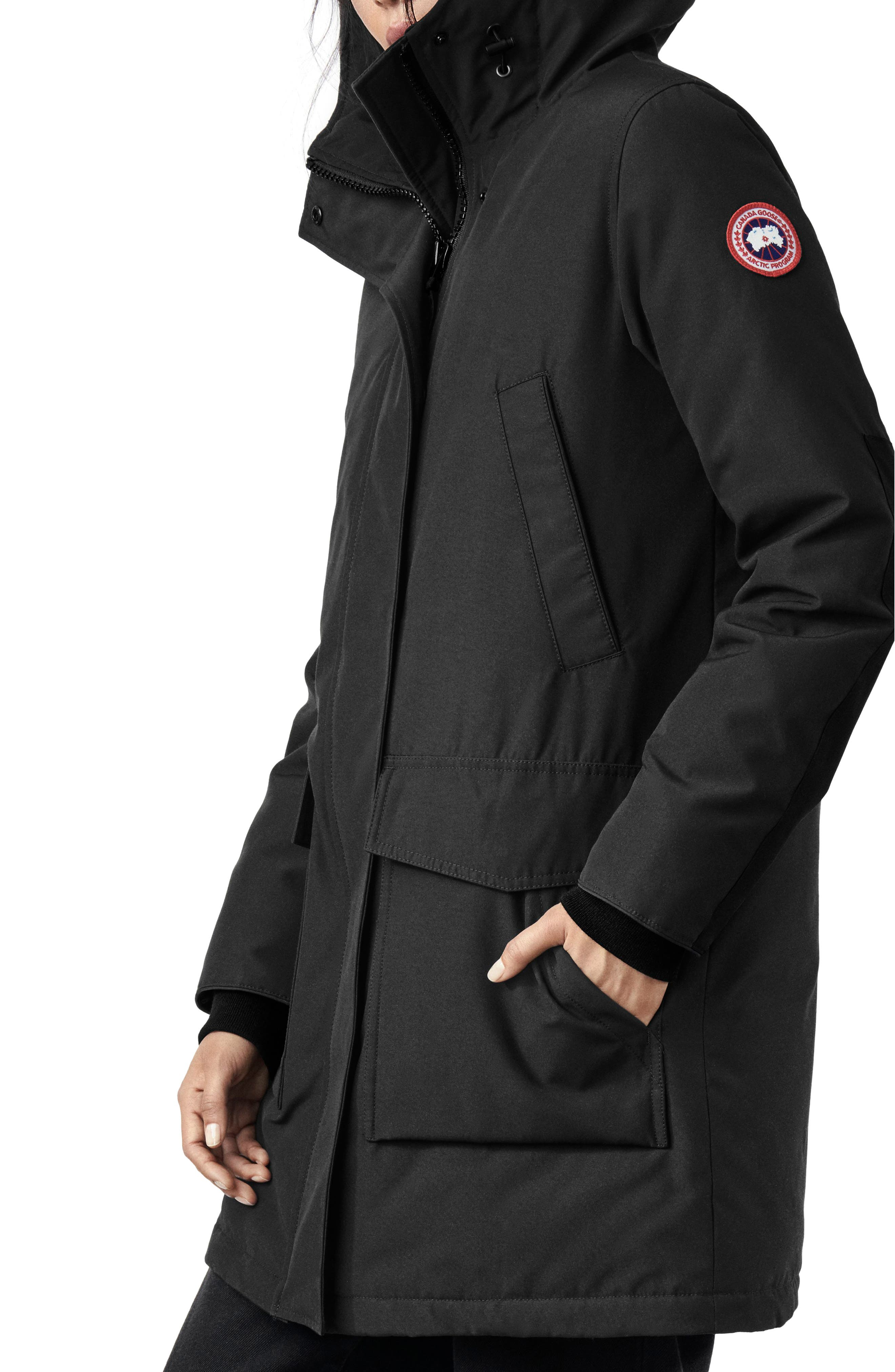 CANADA GOOSE, Canmore 625 Fill Power Down Parka, Alternate thumbnail 2, color, BLACK