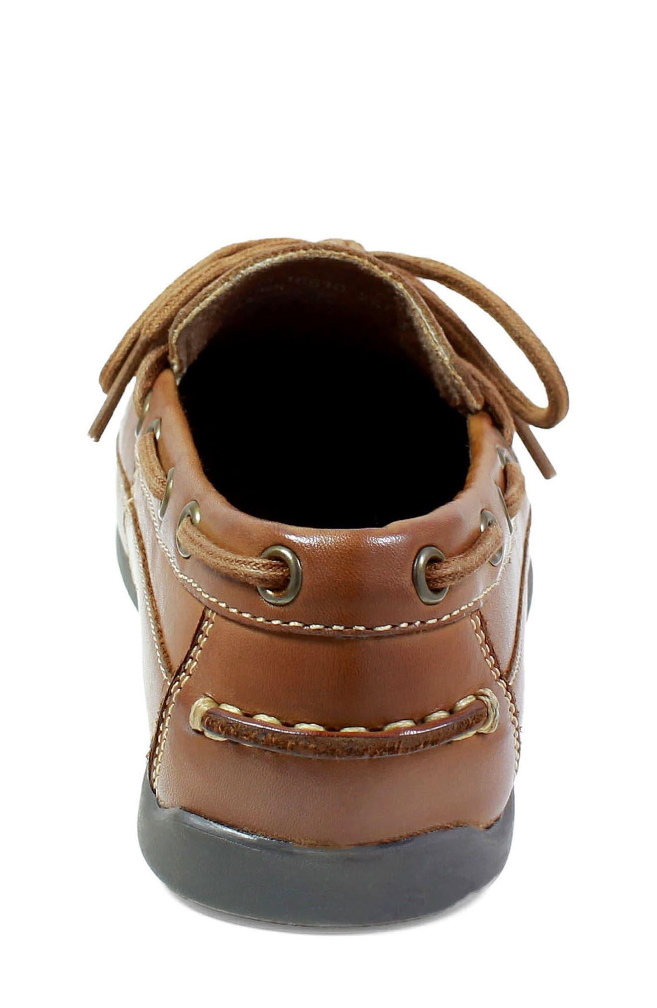 FLORSHEIM, Jasper Boat Shoe, Alternate thumbnail 7, color, SADDLE TAN