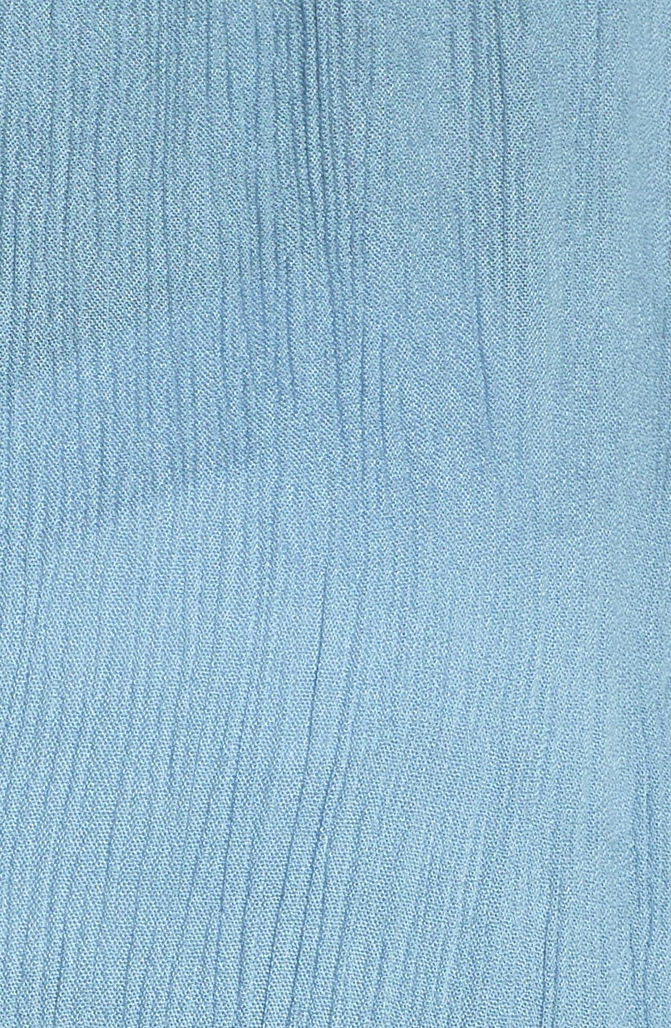ELAN, Wrap Maxi Cover-Up Dress, Alternate thumbnail 5, color, WASHED BLUE