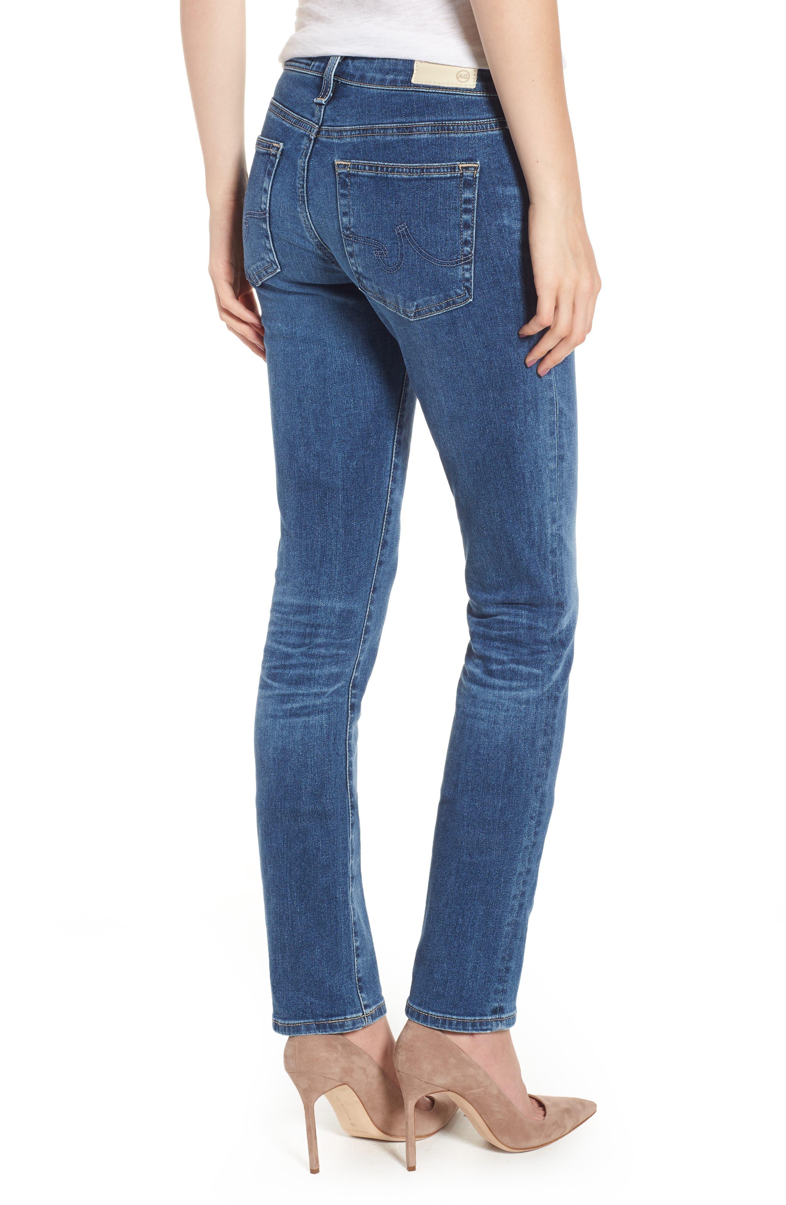 AG, Harper Slim Straight Leg Jeans, Alternate thumbnail 2, color, 10 YEARS CAMBRIA
