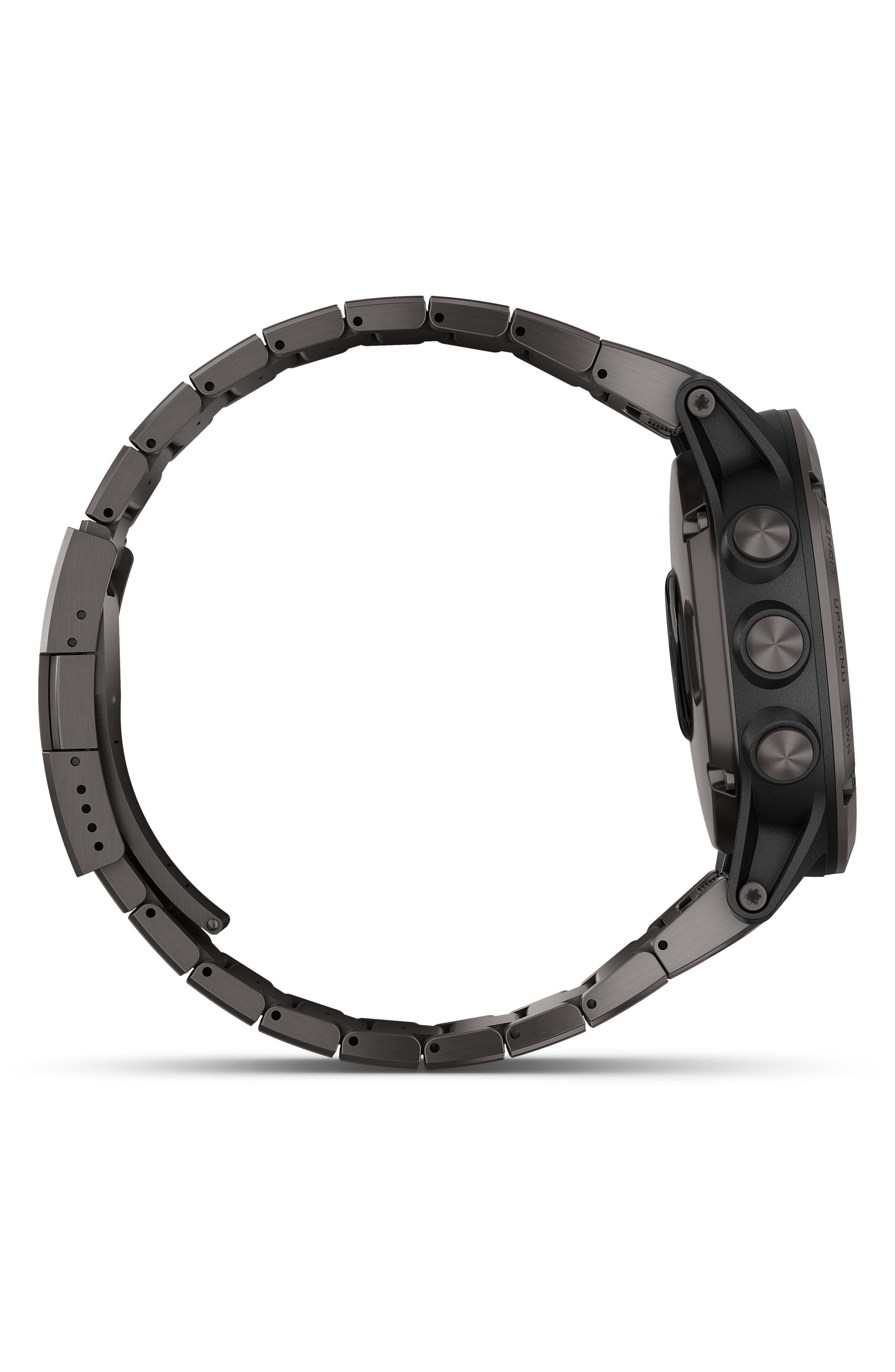 GARMIN, fenix<sup>®</sup> 5X Plus Sapphire Premium Multisport GPS Watch, 51mm, Alternate thumbnail 3, color, CARBON GRAY