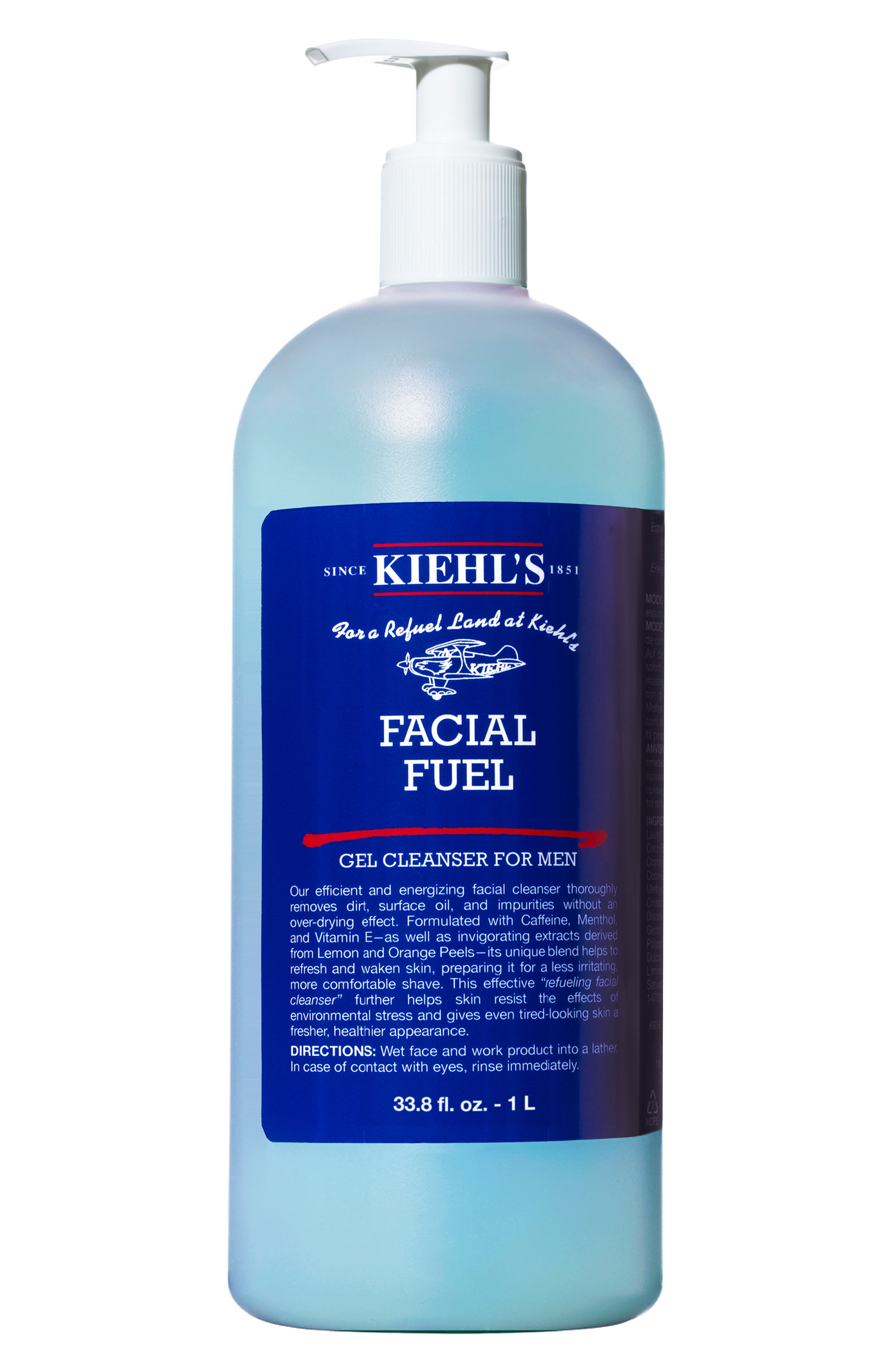 KIEHL'S SINCE 1851, Jumbo Facial Fuel Energizing Face Wash, Alternate thumbnail 3, color, NO COLOR