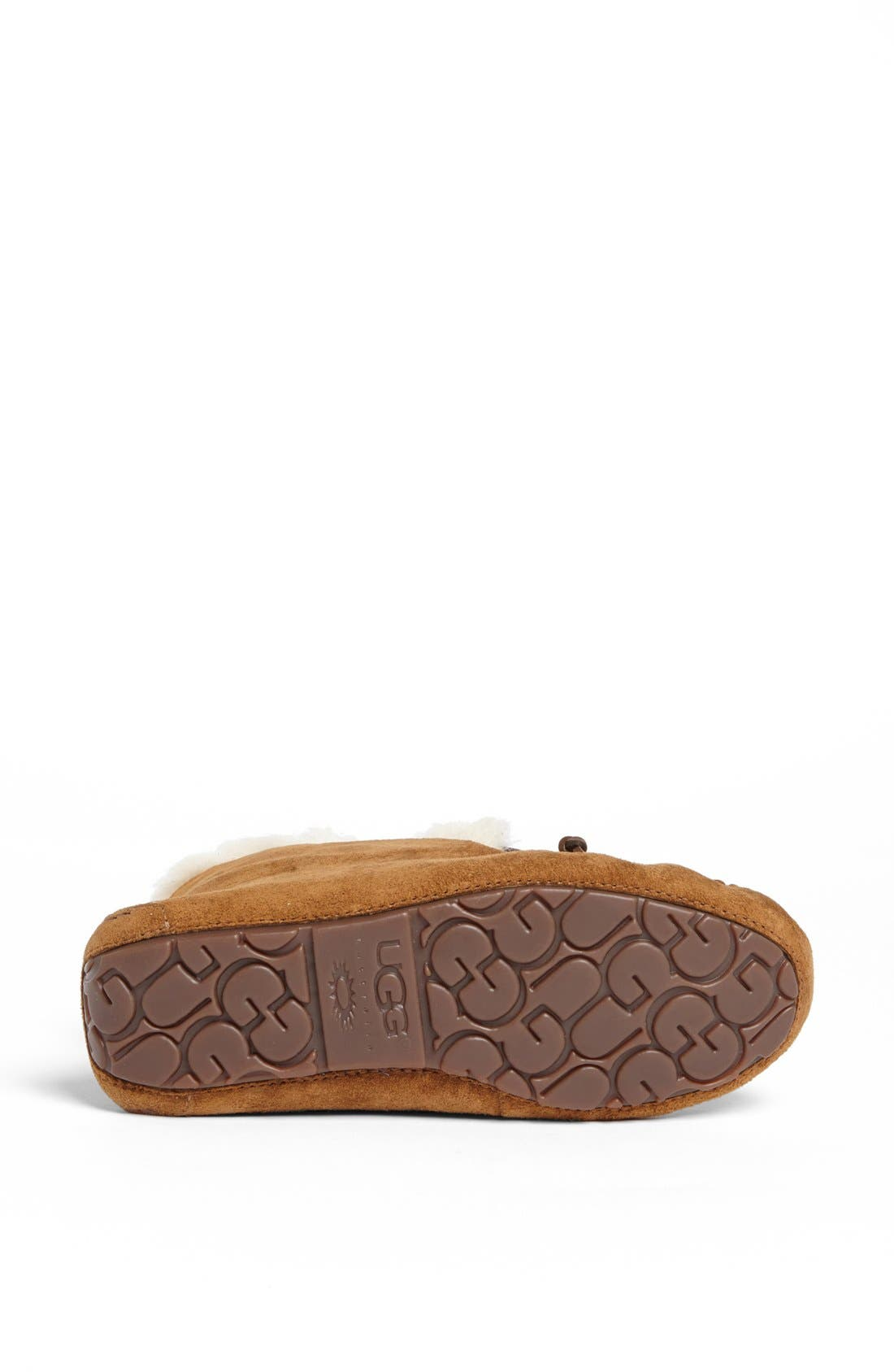 UGG<SUP>®</SUP>, UGGpure<sup>™</sup> Alena Suede Slipper Bootie, Alternate thumbnail 6, color, CHESTNUT
