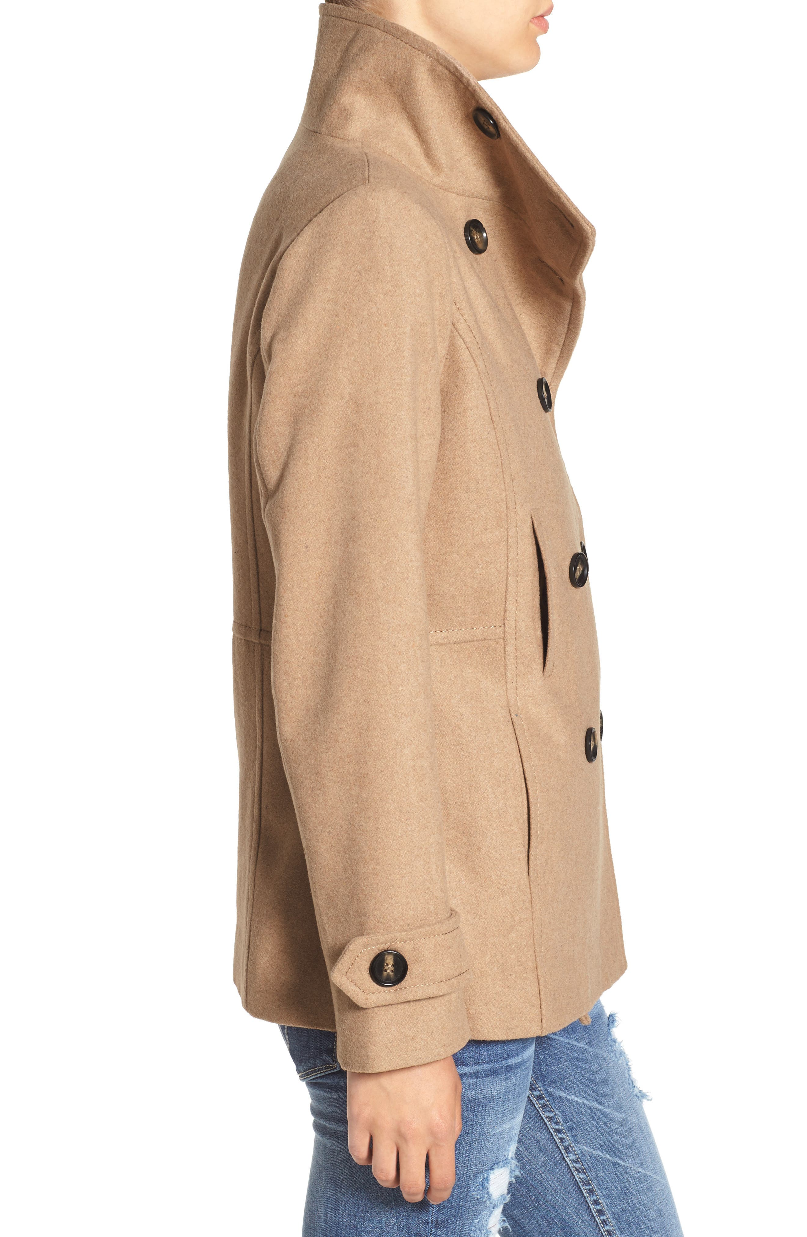THREAD & SUPPLY, Double Breasted Peacoat, Alternate thumbnail 5, color, 200