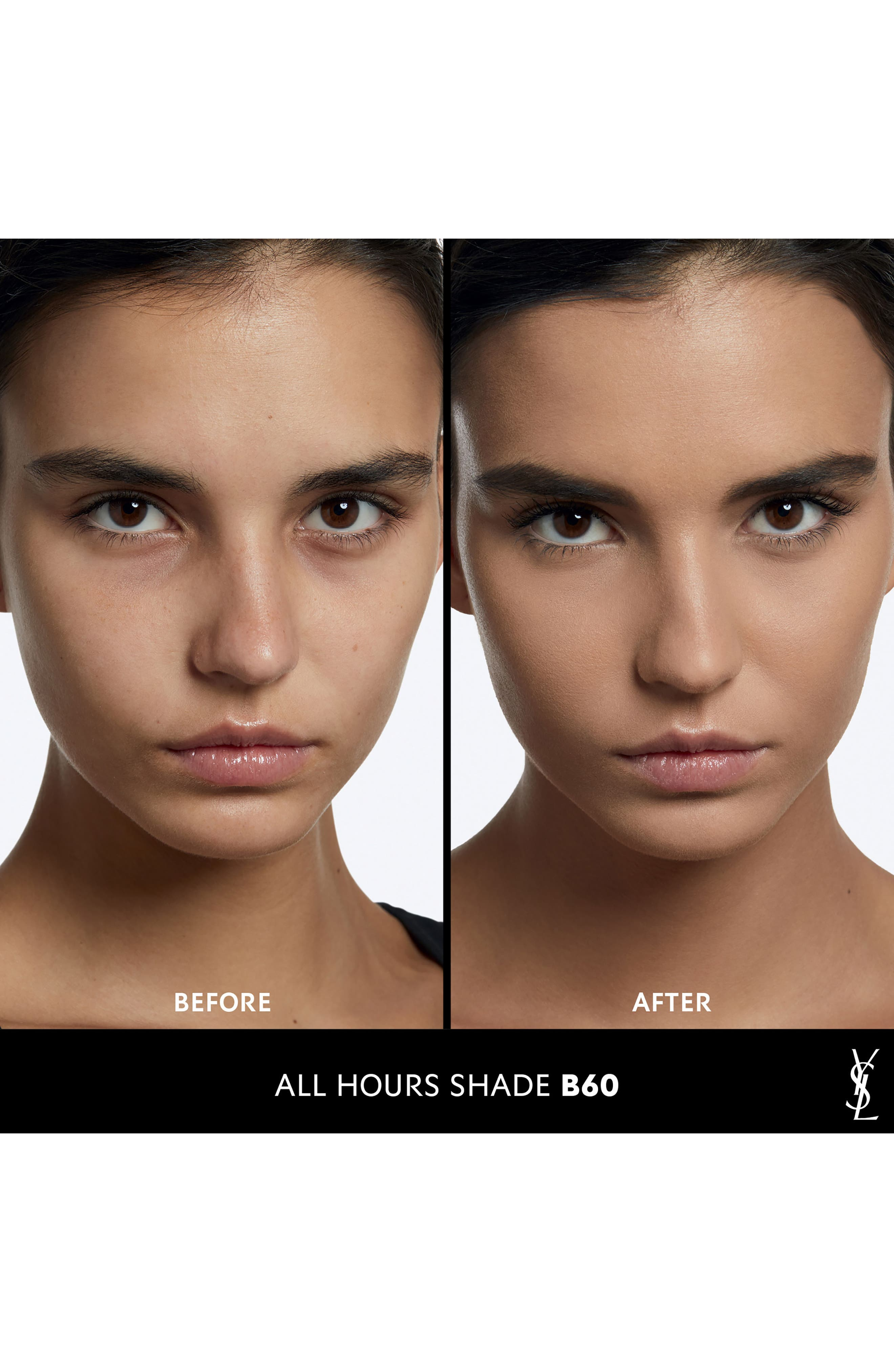 YVES SAINT LAURENT, All Hours Full Coverage Matte Foundation SPF 20, Alternate thumbnail 2, color, B60 AMBER