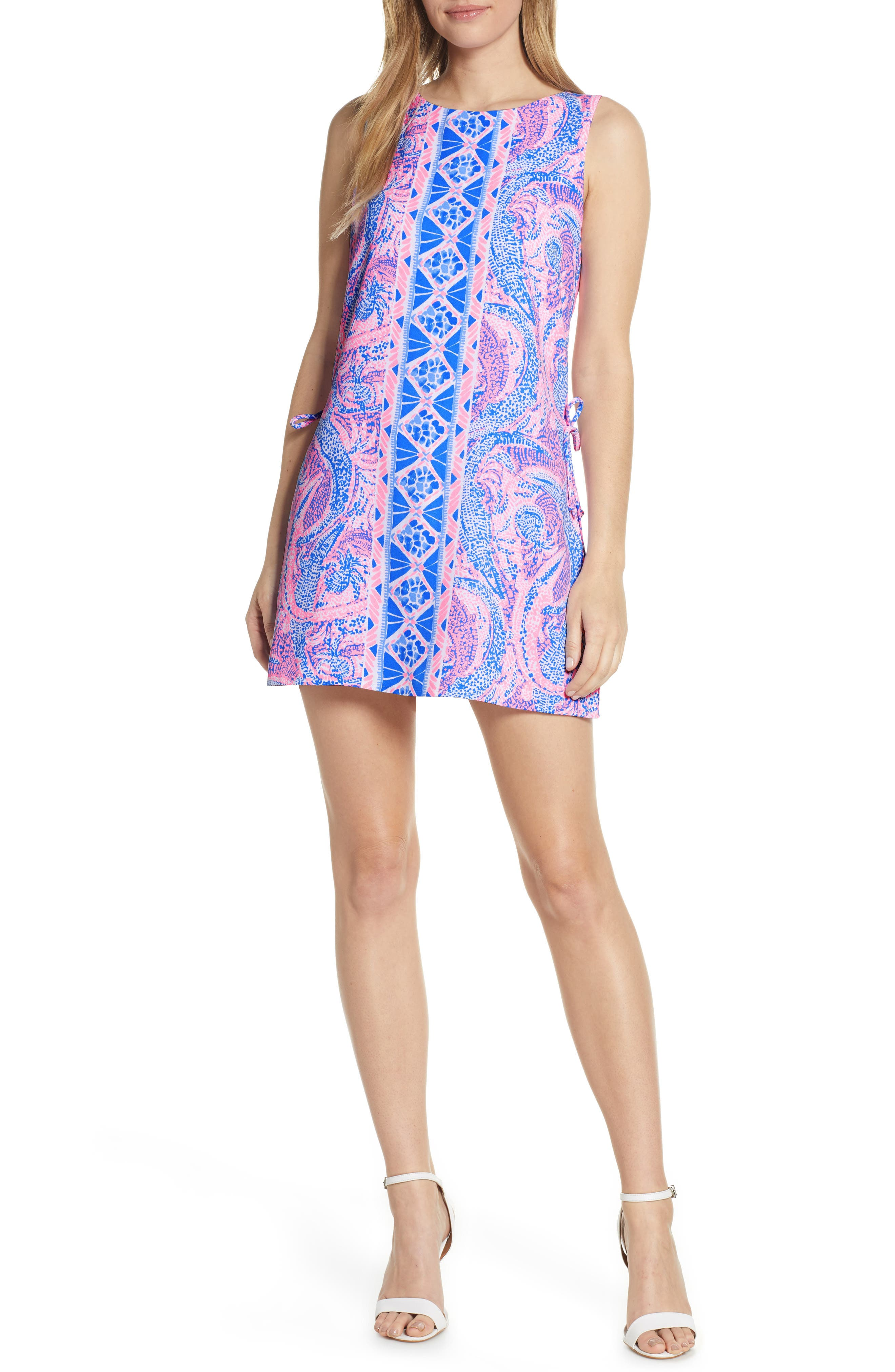 LILLY PULITZER<SUP>®</SUP> Donna Romper Dress, Main, color, COASTAL BLUE MAYBE GATO