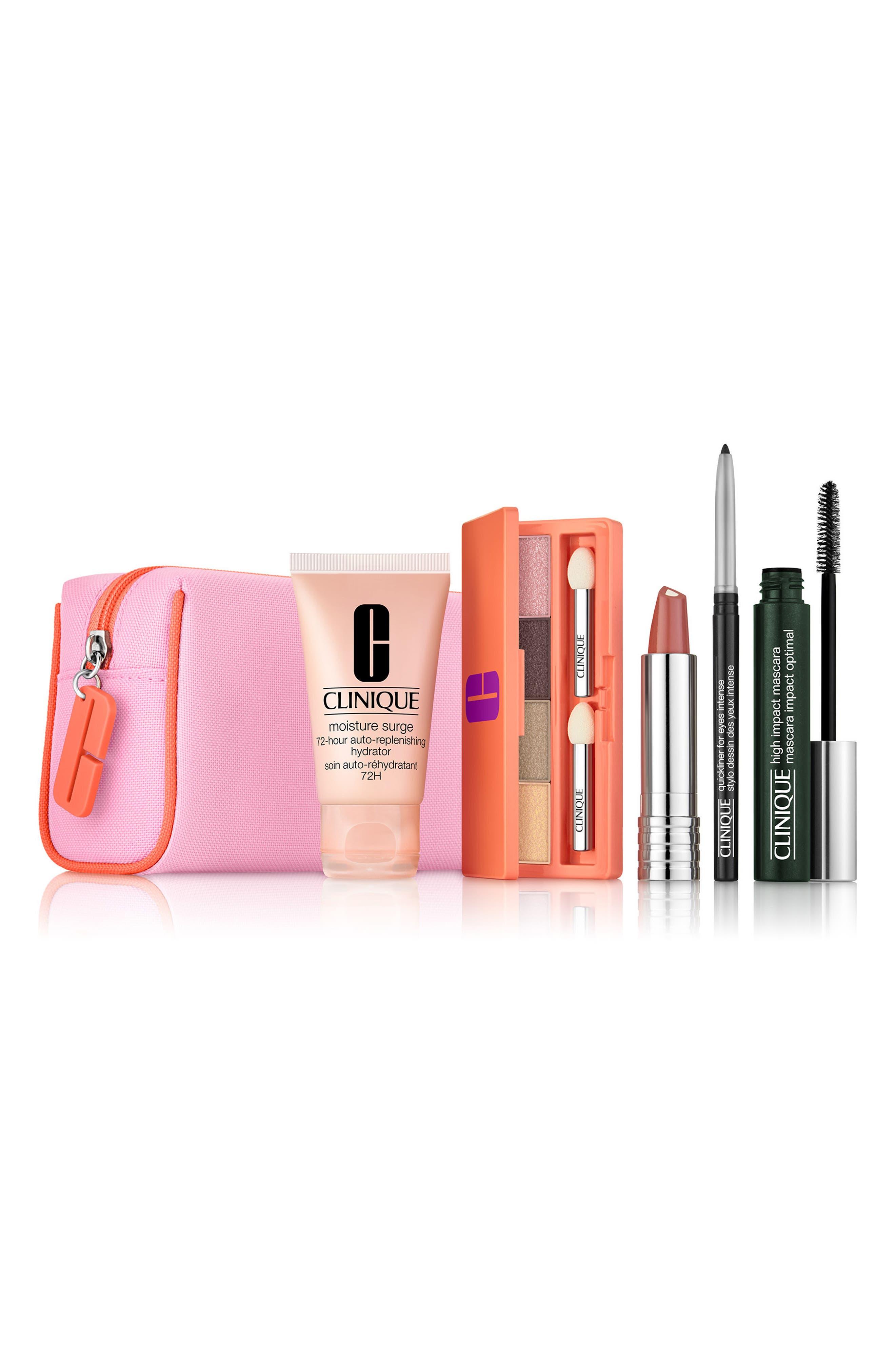 CLINIQUE Spring Into Color Eye & Lip Makeup Set, Main, color, NO COLOR