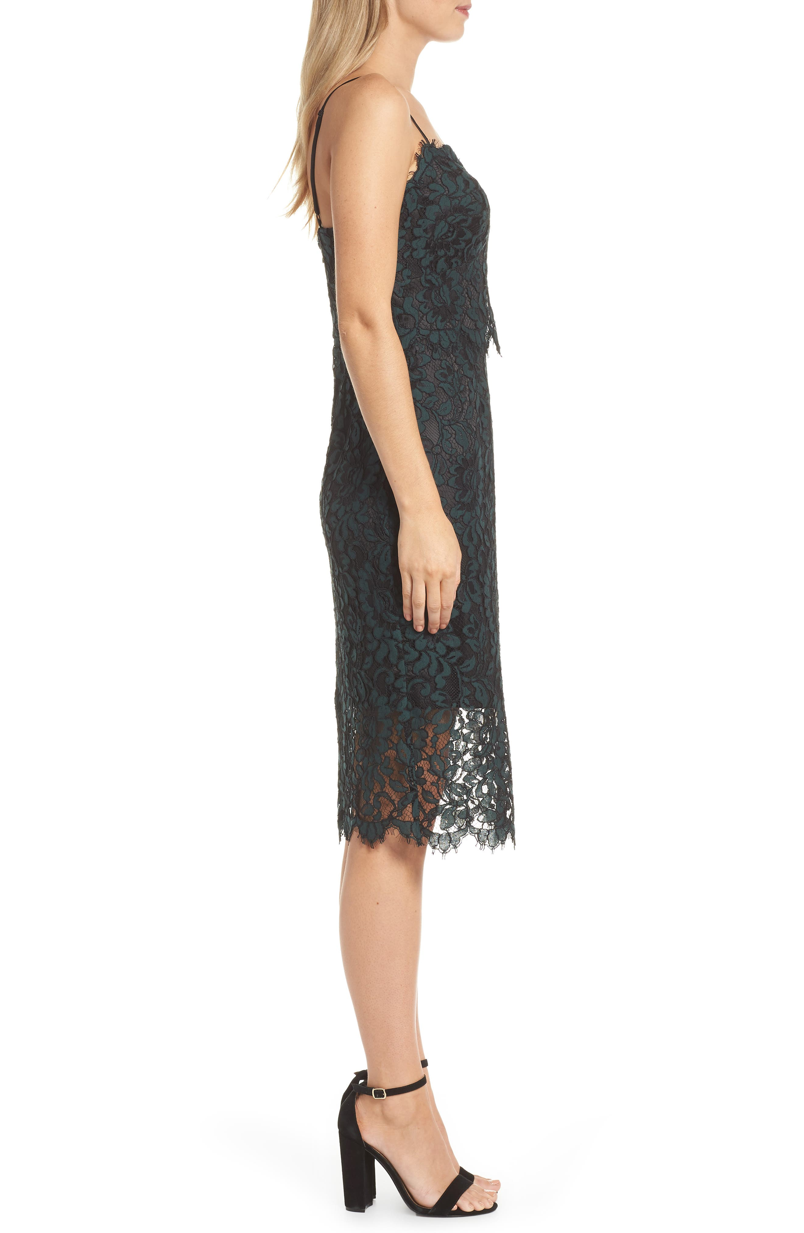 ELIZA J, Sweetheart Neck Lace Sheath Dress, Alternate thumbnail 4, color, 310