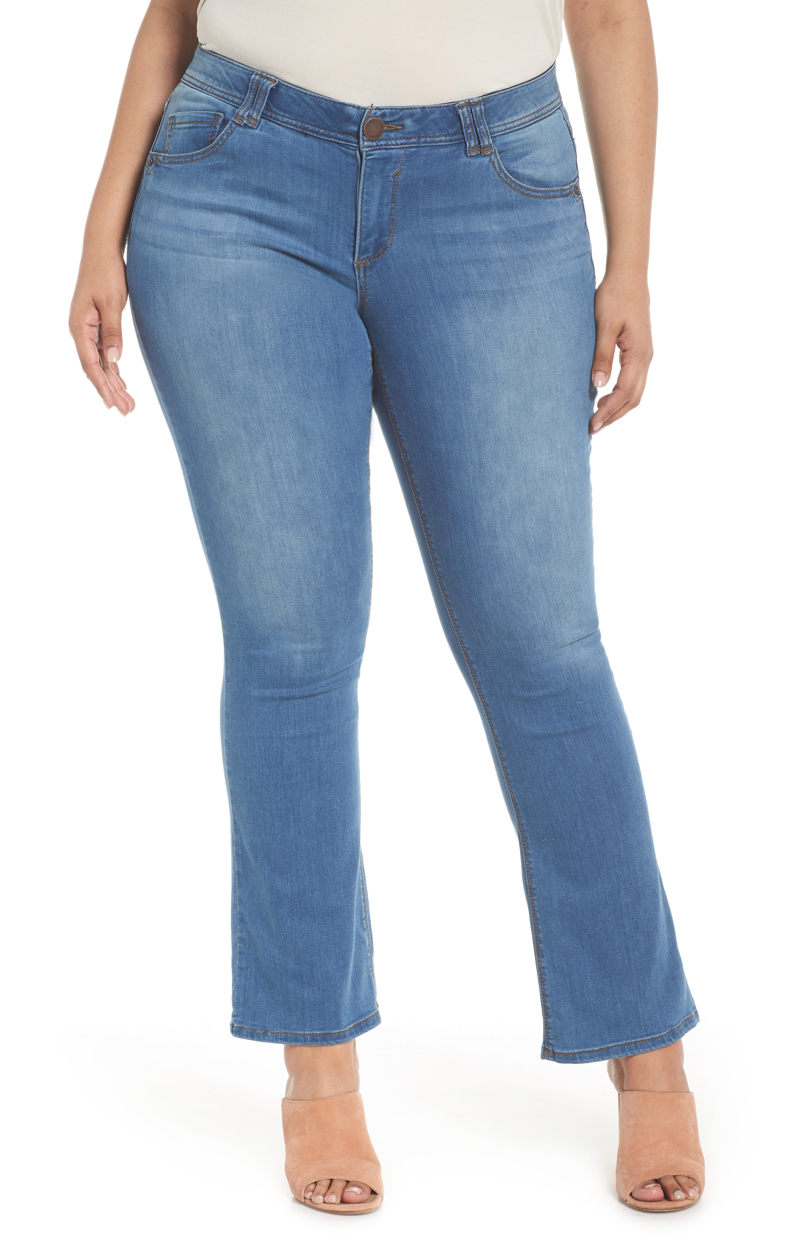 WIT & WISDOM Ab-solution Luxe Touch Bootcut Jeans, Main, color, LIGHT BLUE