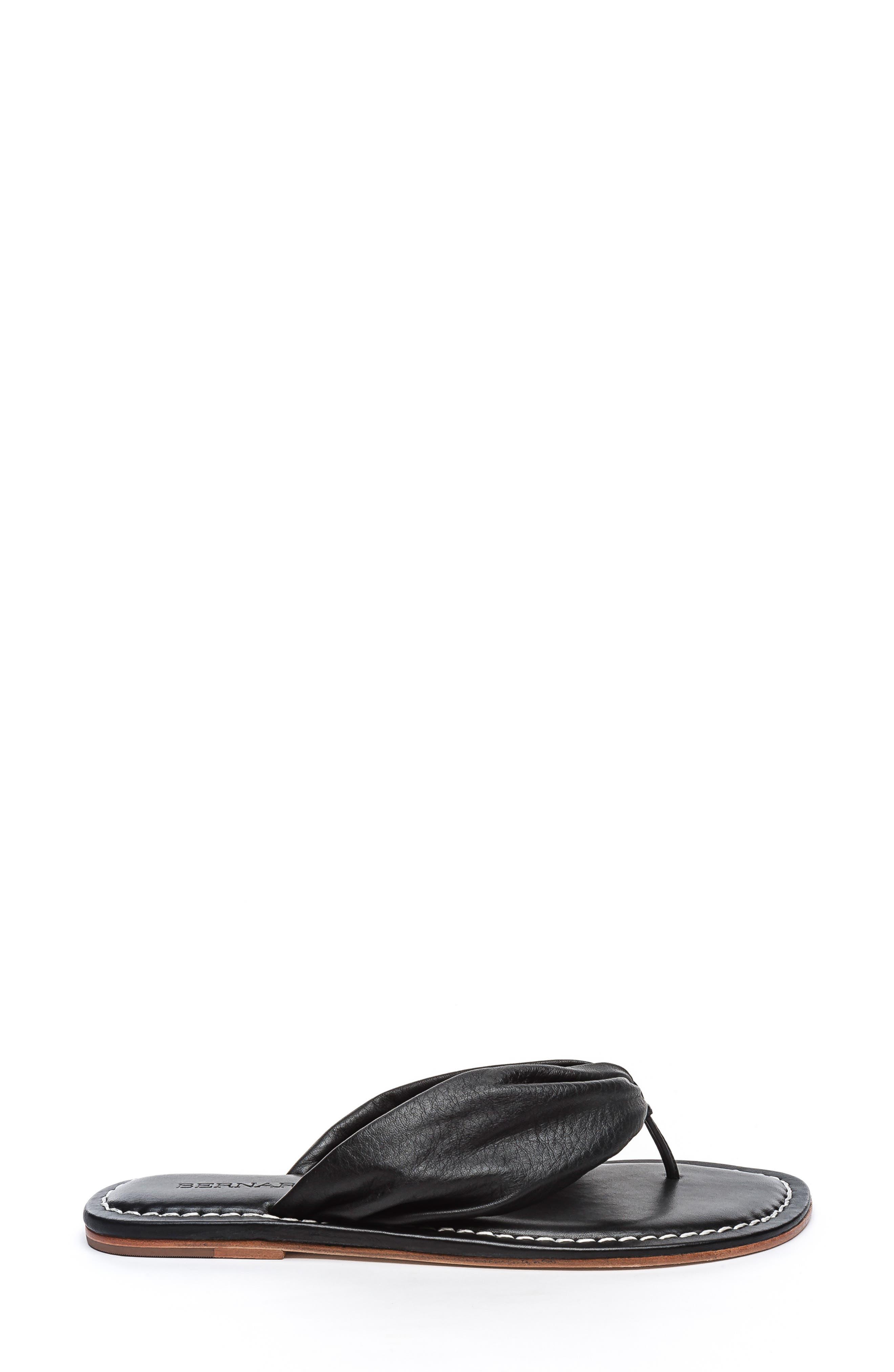 BERNARDO, Mila Flip Flop, Alternate thumbnail 3, color, BLACK