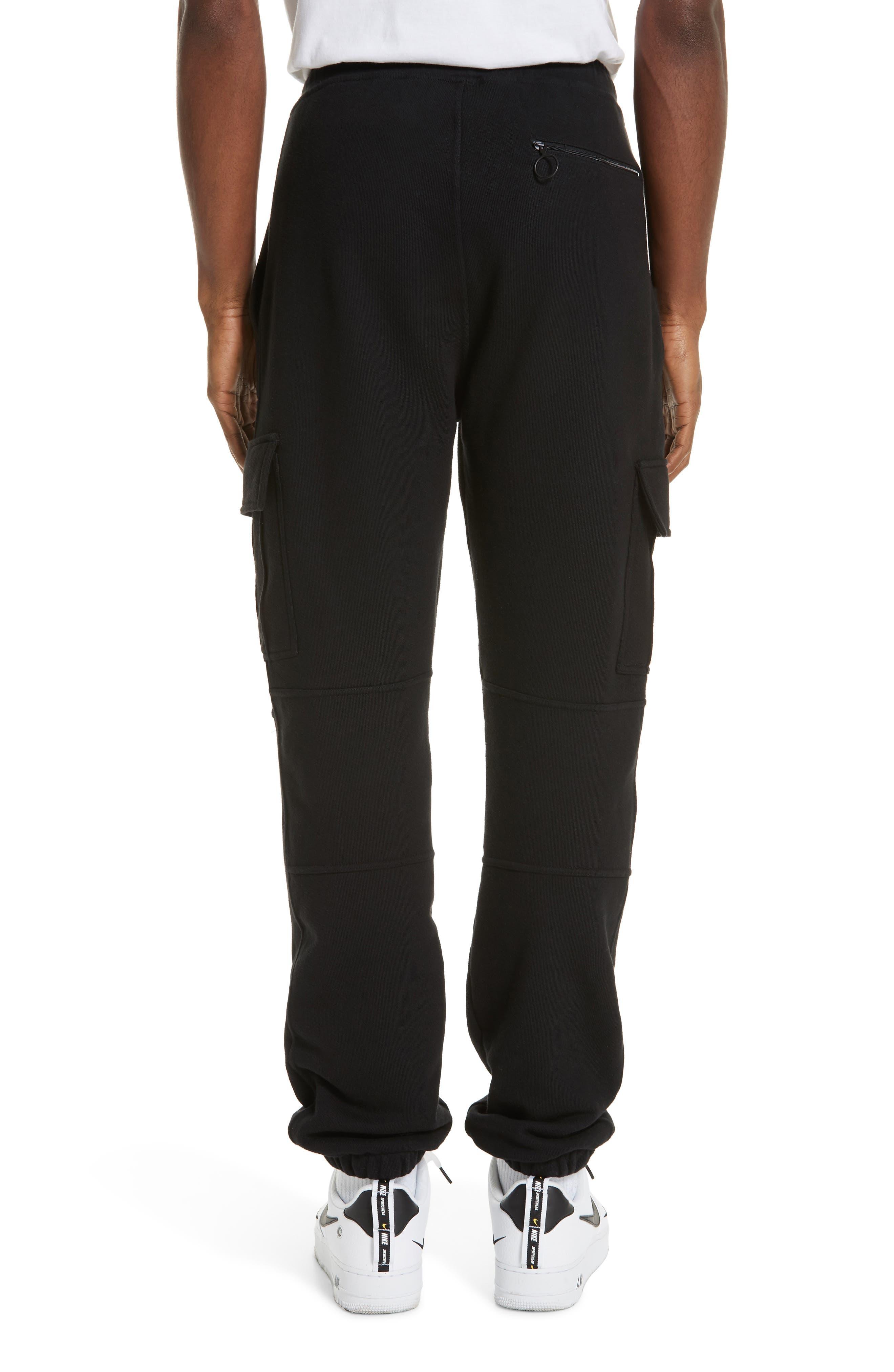 OFF-WHITE, Cargo Jogger Pants, Alternate thumbnail 2, color, BLACK