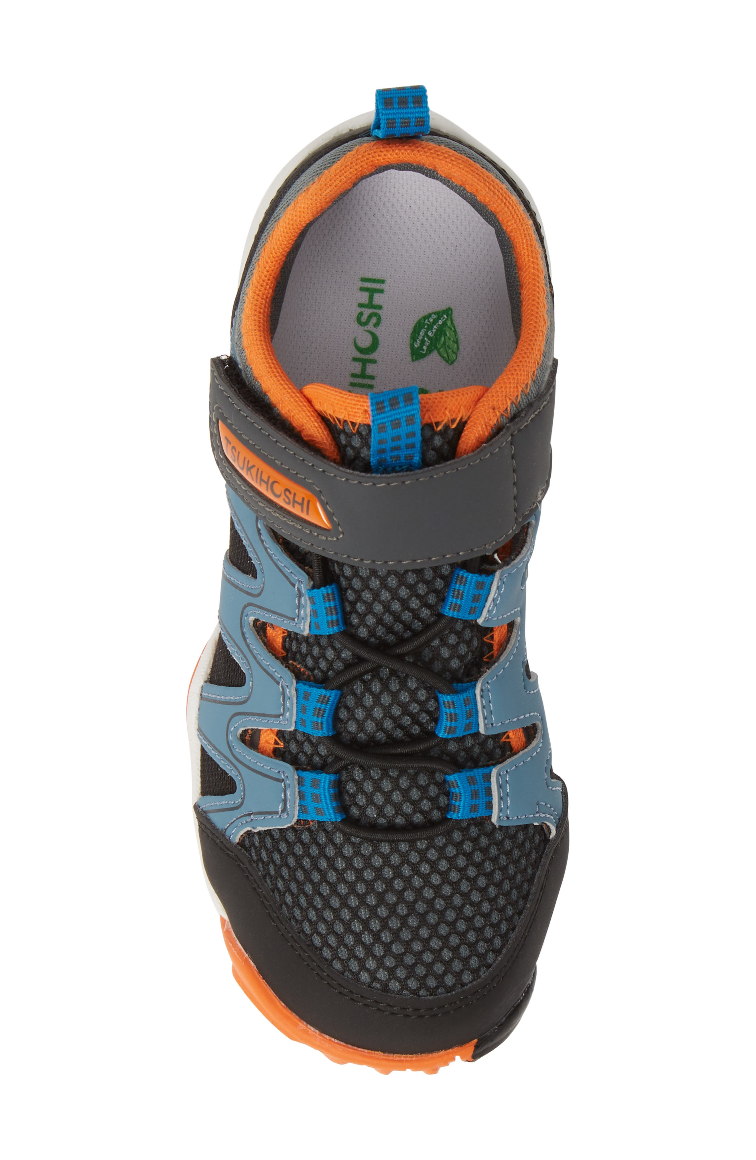 TSUKIHOSHI, Wave Washable Sneaker, Alternate thumbnail 5, color, BLACK/ ORANGE