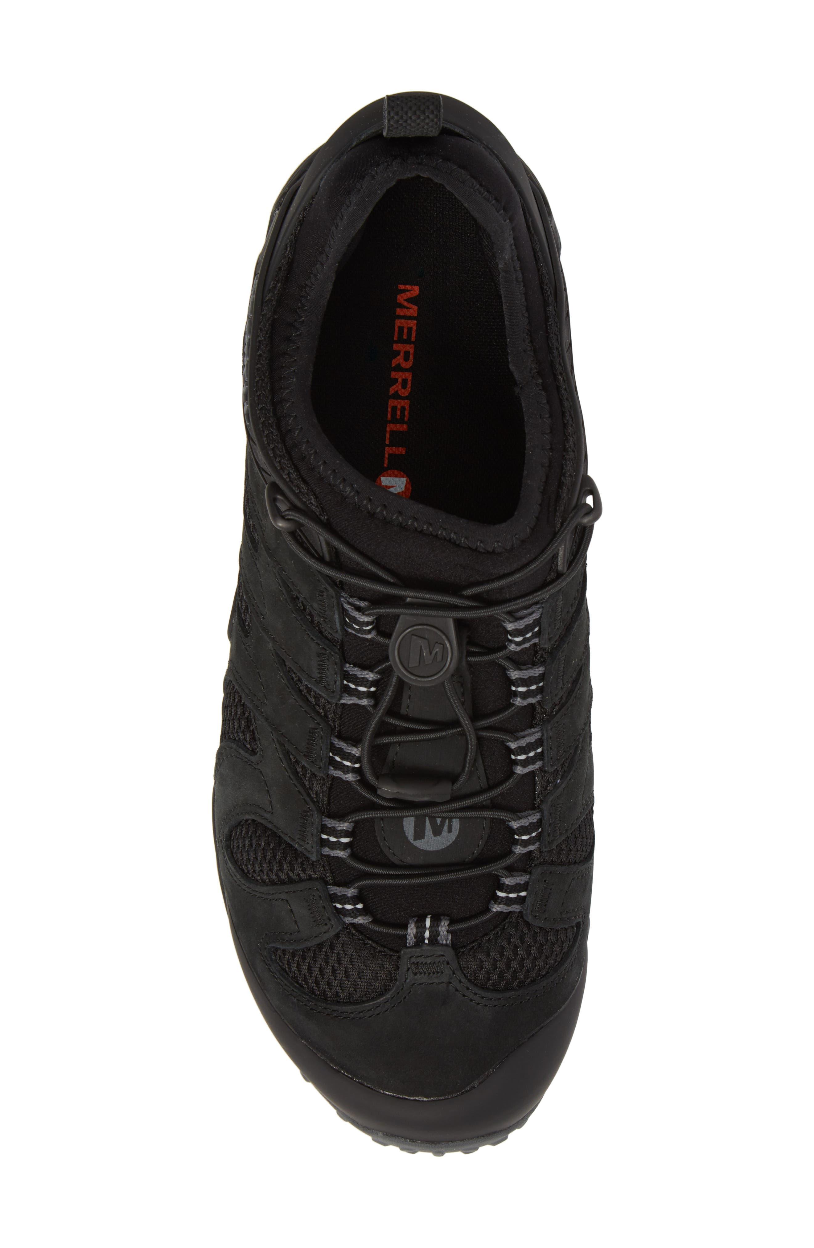 MERRELL, Chameleon 7 Stretch Hiking Shoe, Alternate thumbnail 5, color, BLACK
