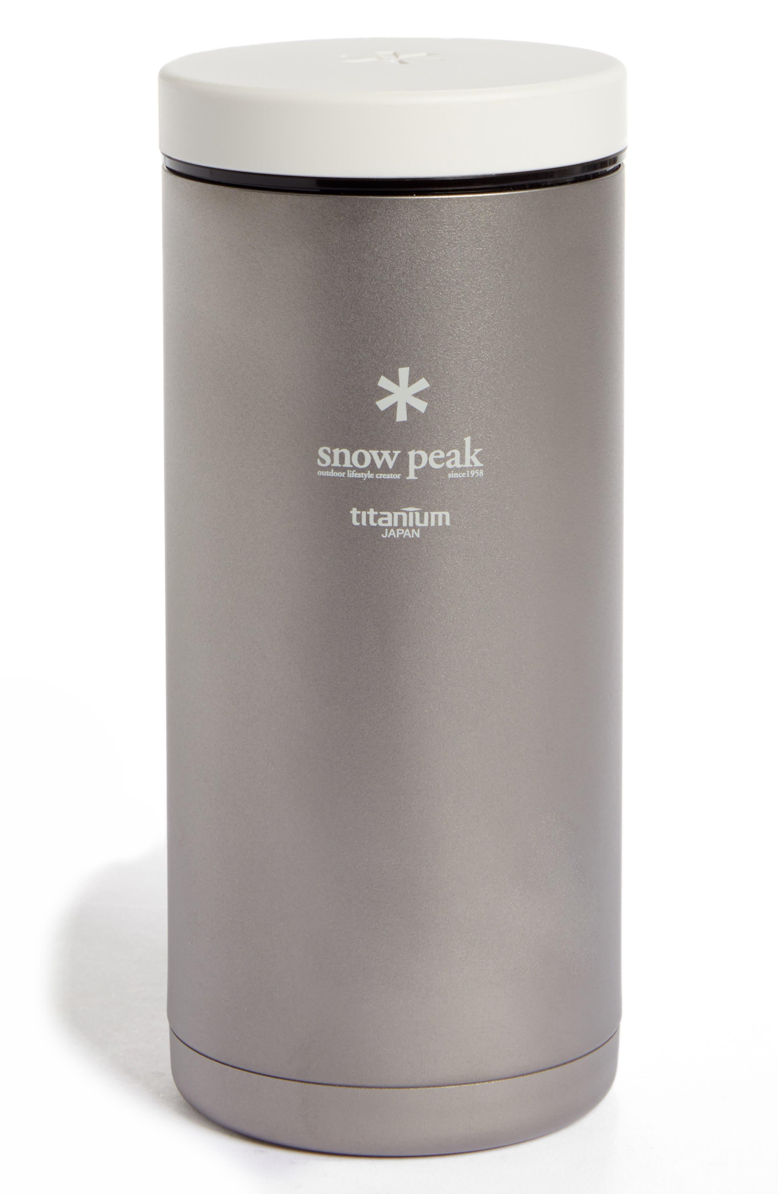 SNOW PEAK Kanpai 350ml Titanium Vacuum Insulated Hot/Cold Beverage Bottle, Main, color, 040