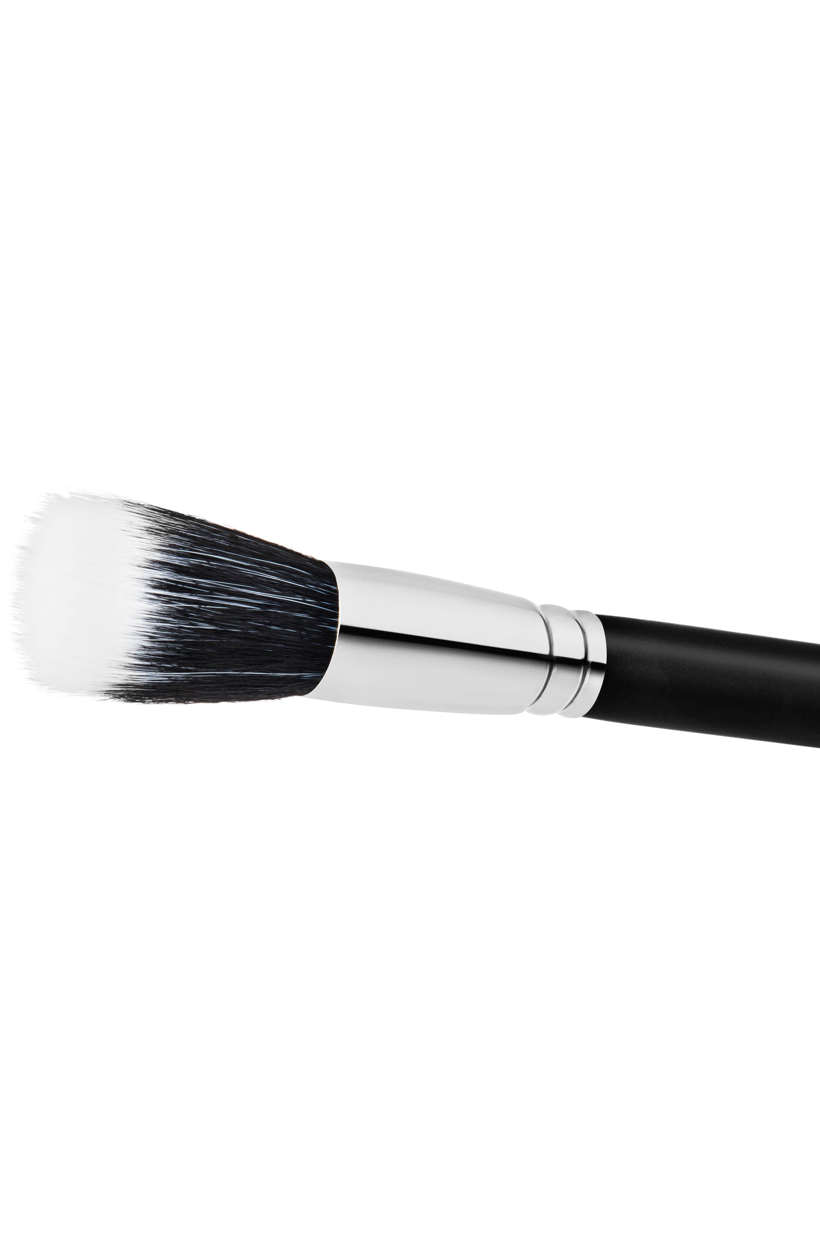 MAC COSMETICS, MAC 187S Synthetic Duo Fibre Face Brush, Alternate thumbnail 2, color, 000