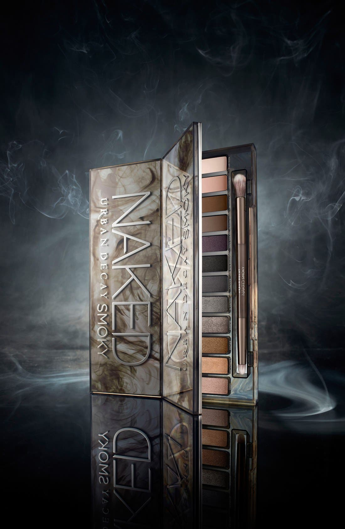 URBAN DECAY, 'Naked Smoky' Palette, Alternate thumbnail 6, color, 000