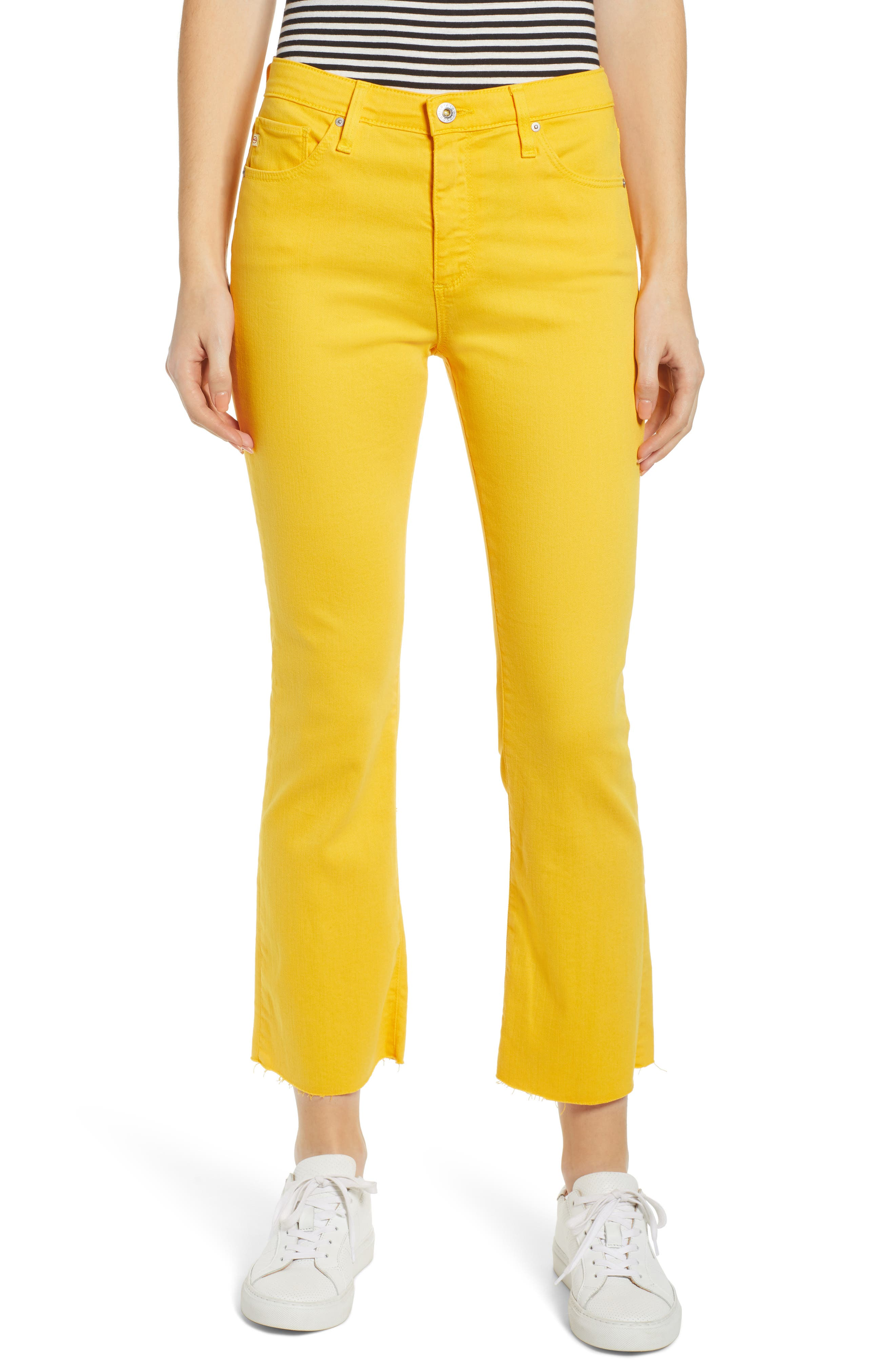 AG Jodi High Waist Crop Jeans, Main, color, GOLDEN OCHRE