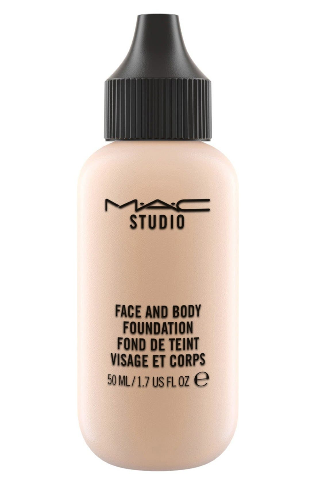 MAC COSMETICS, MAC M·A·C Studio Face and Body Foundation, Main thumbnail 1, color, N2